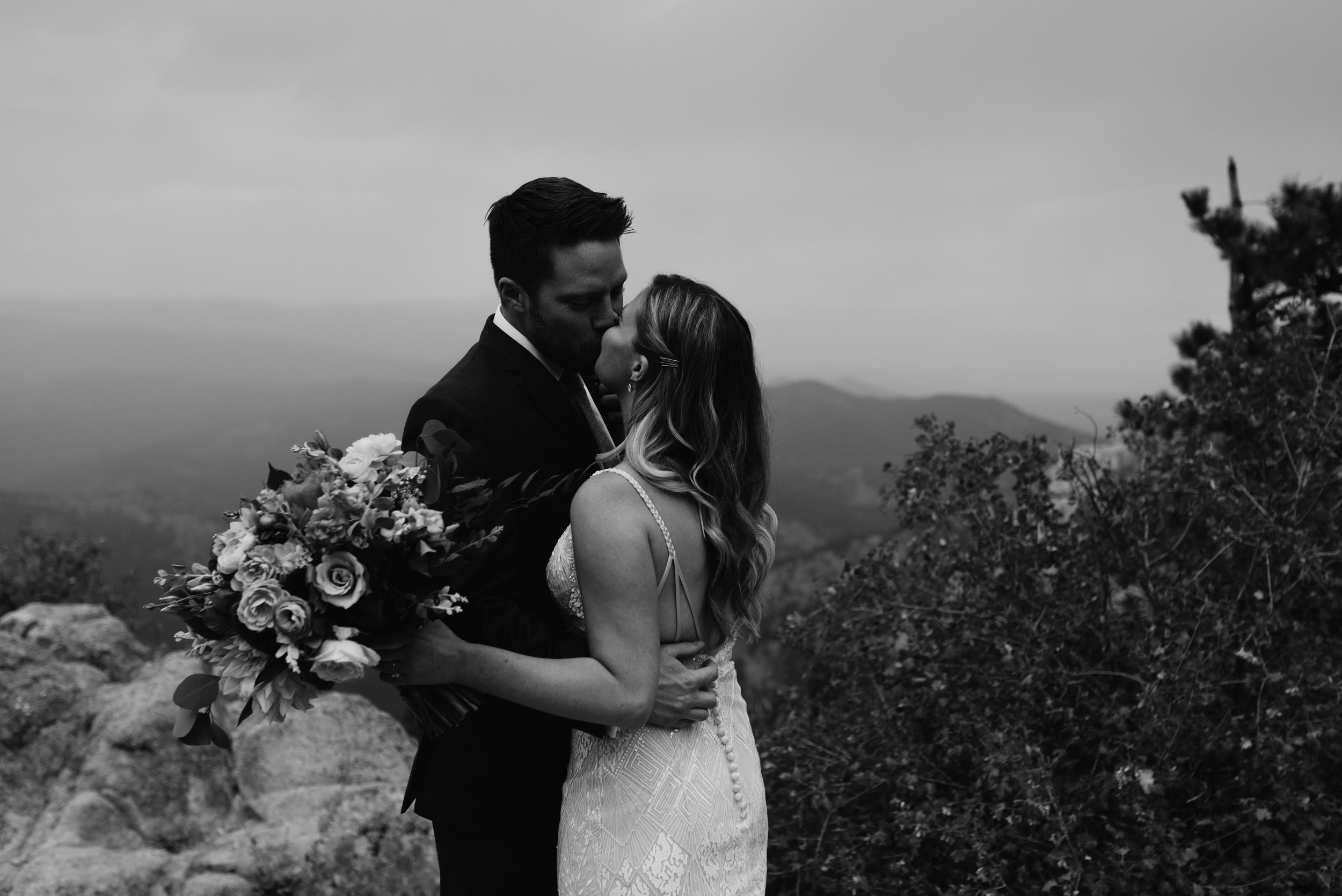 First look at Boulder, Colorado elopement. Boulder wedding photographer.