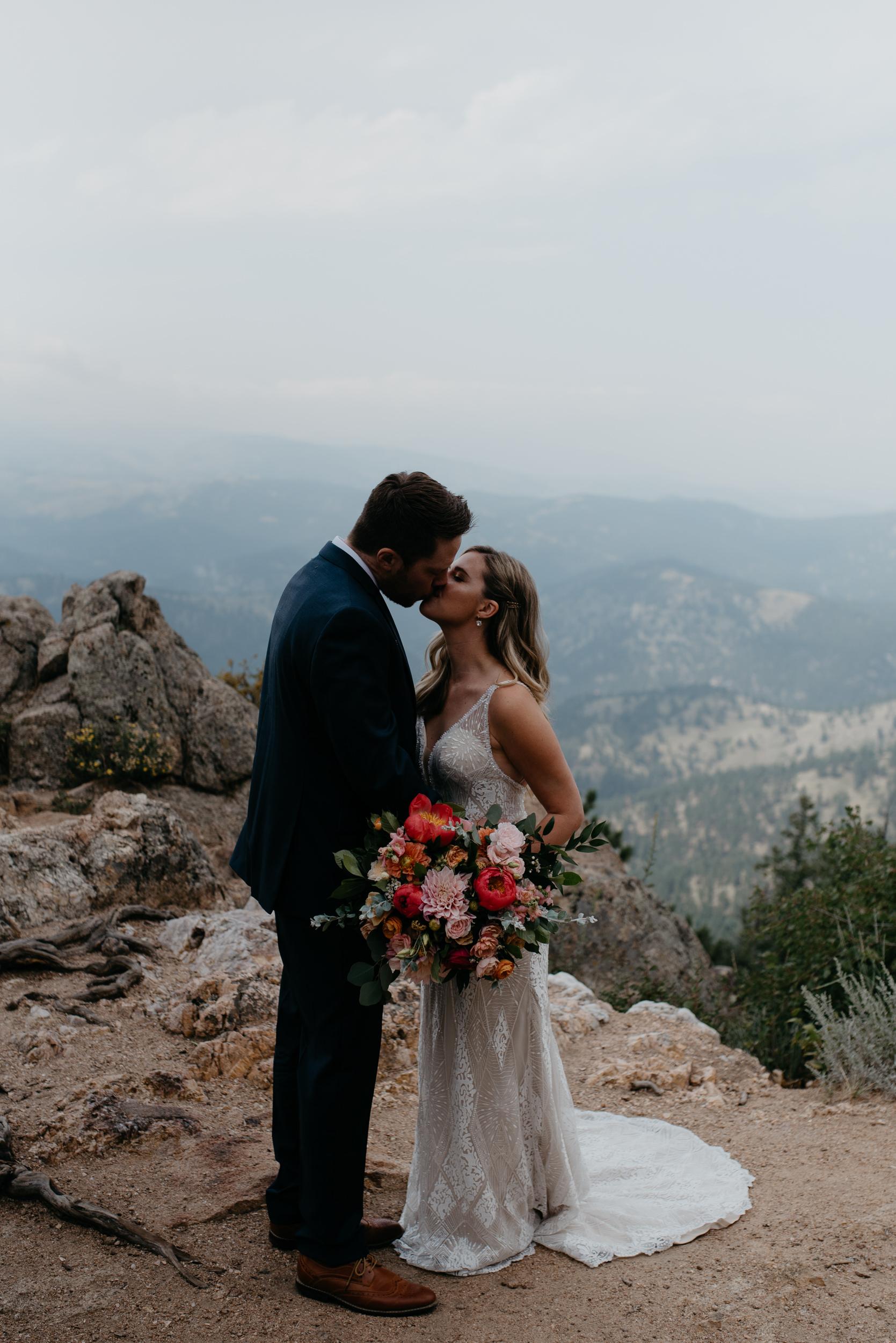 Lost Gulch mountain elopement photos in Boulder, Colorado. Colorado wedding and elopement photographer.