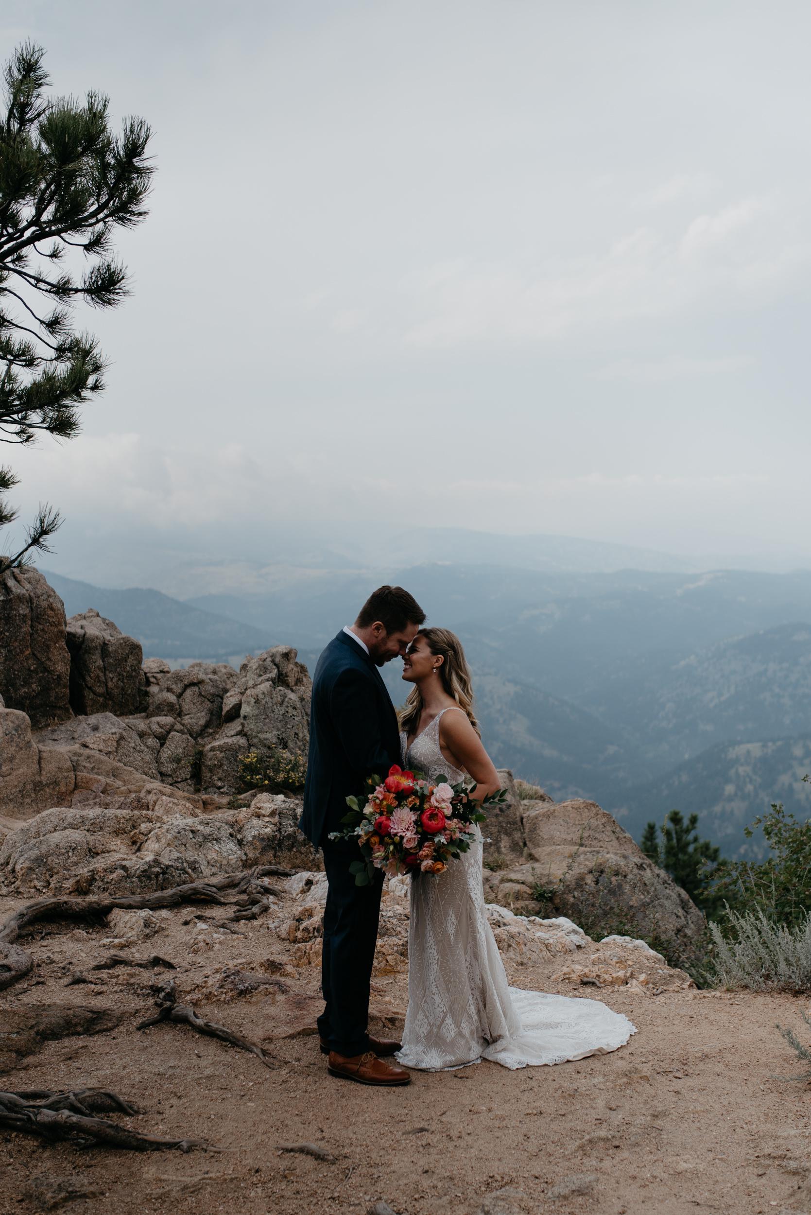 Boulder, Colorado mountain elopement at Lost Gulch. Colorado adventure elopement and wedding photographer.