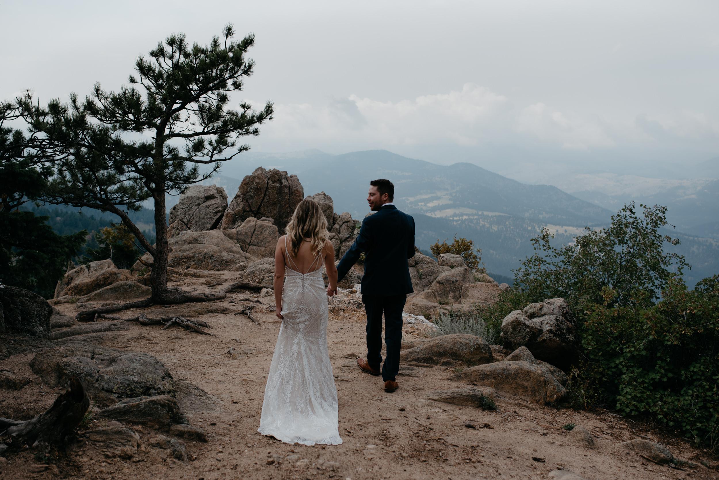 Boulder, Colorado adventure wedding and elopement photographer. Mountain elopement at Lost Gulch.
