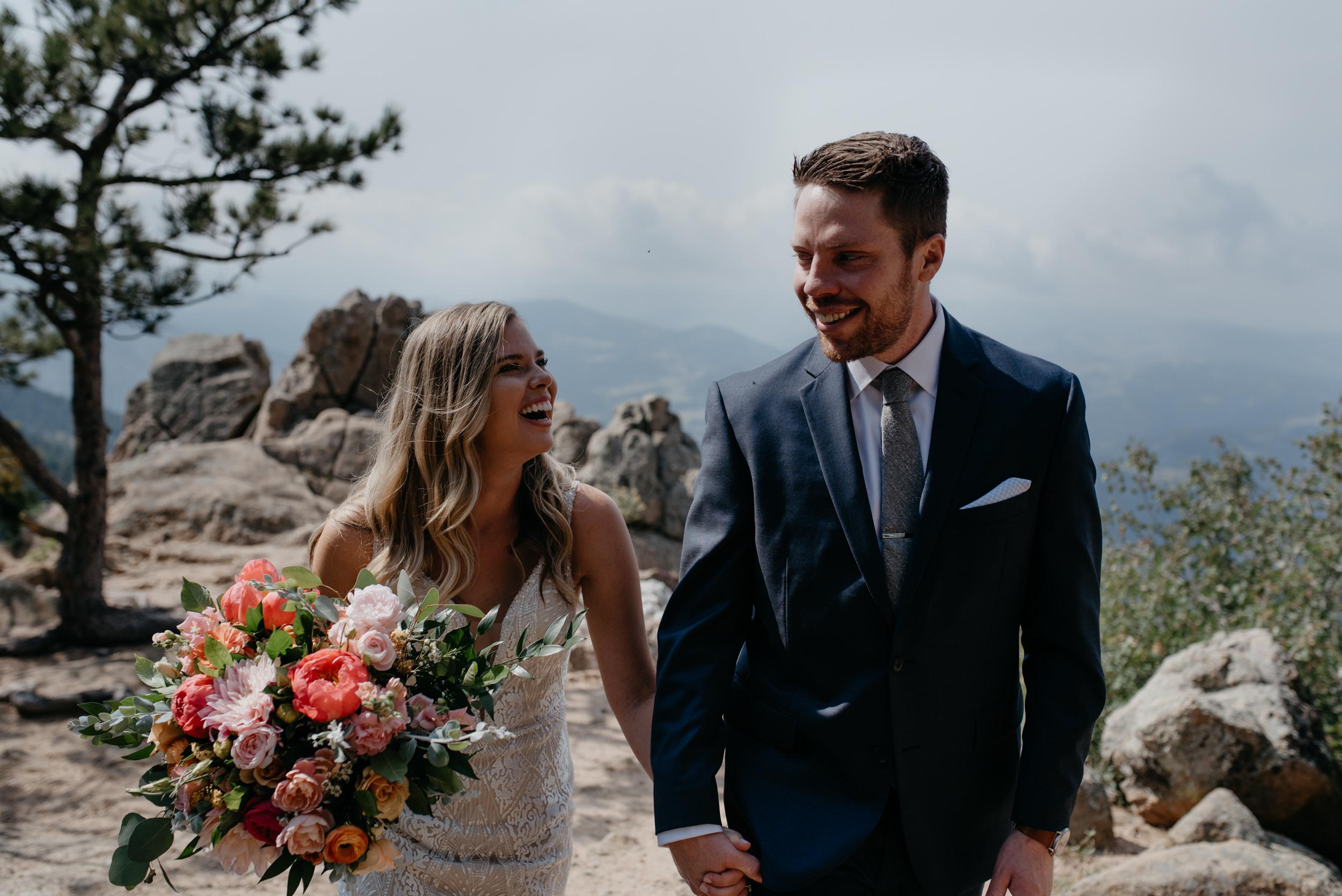 Lost Gulch elopement in Boulder, Colorado. Colorado wedding and elopement photography..