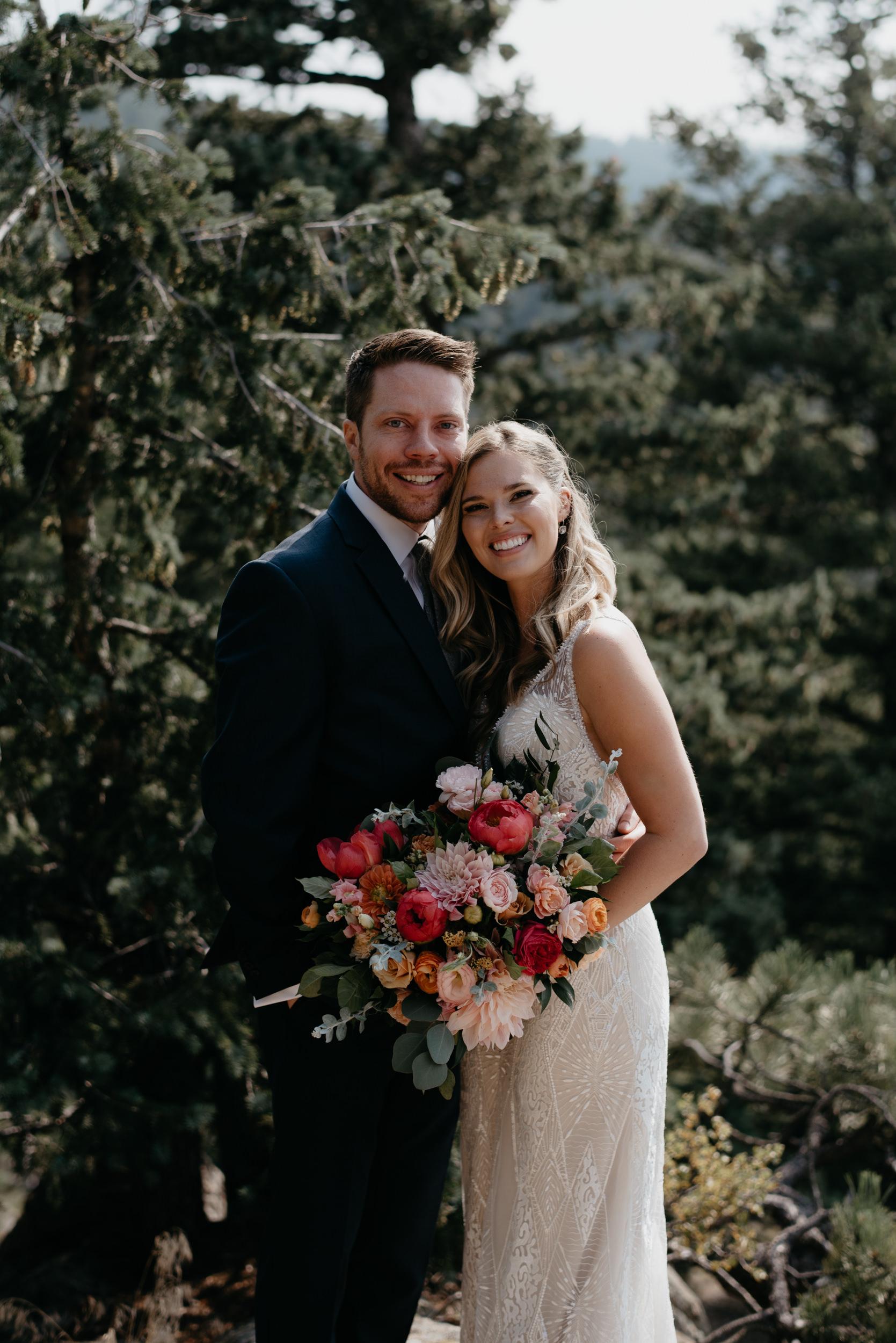 Boulder, Colorado elopement at Lost Gulch. Boulder wedding photos.