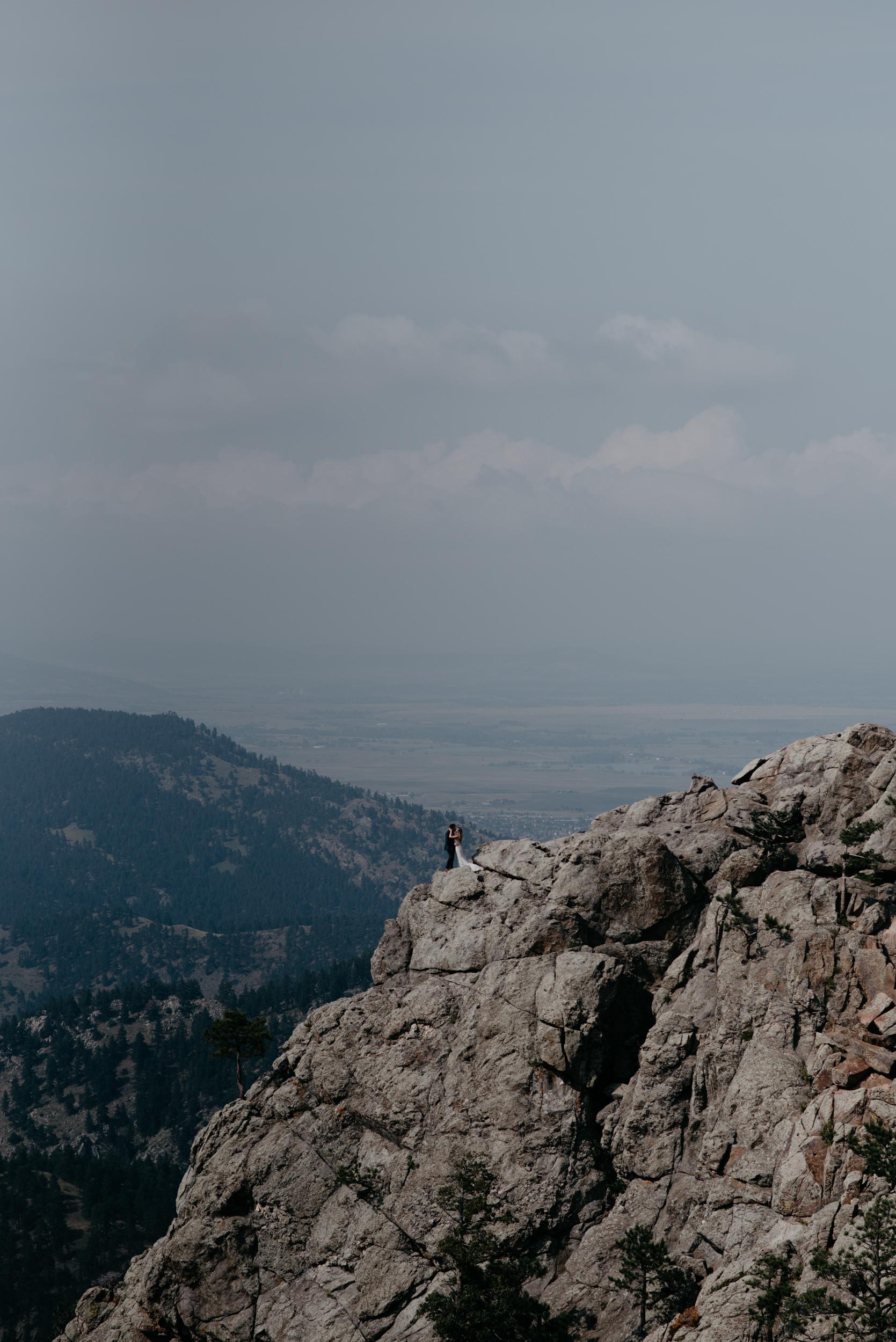 Colorado mountain elopement and wedding photographer. Adventure elopement in Boulder, Colorado.
