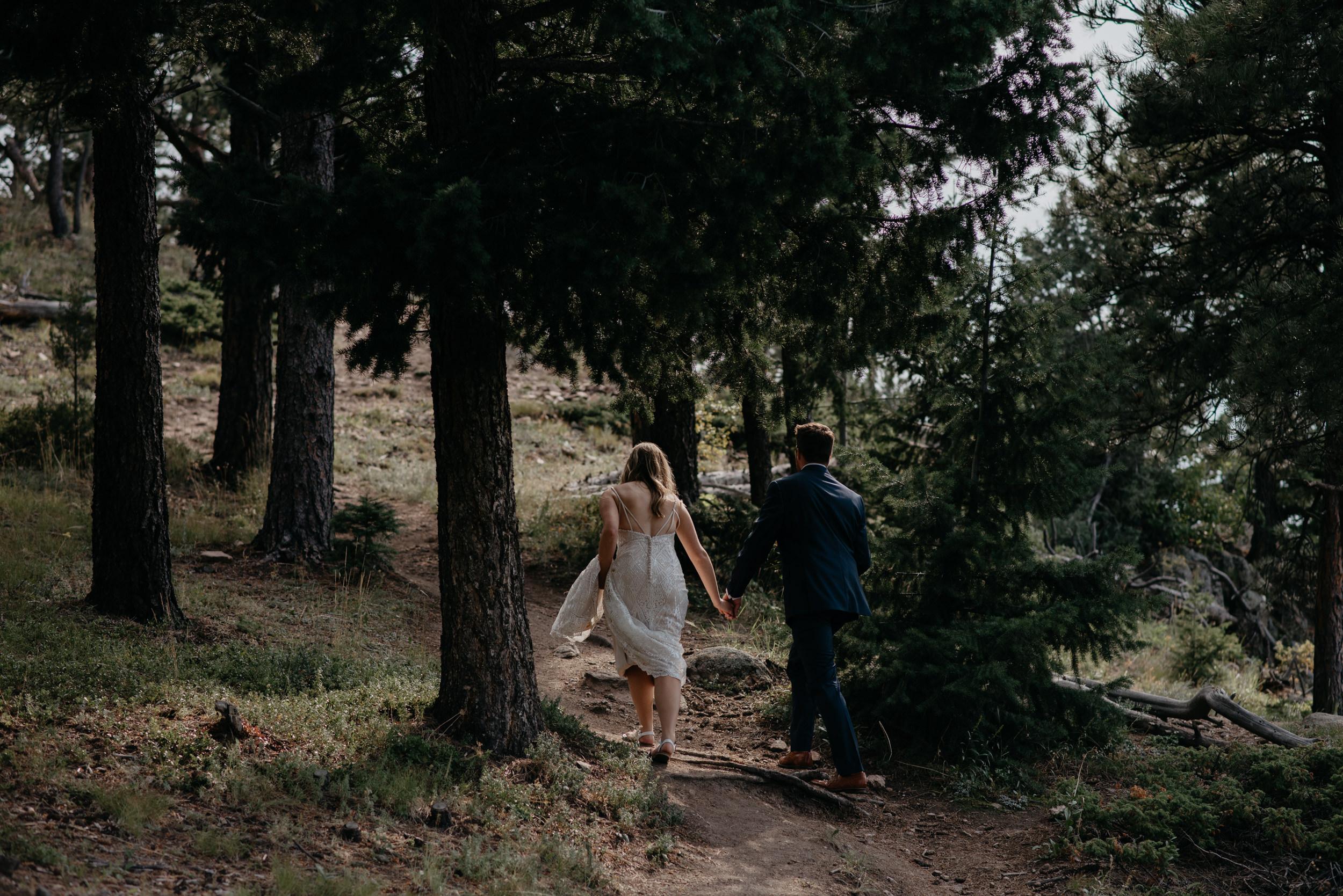 Boulder adventure elopement photographer. Colorado wedding at Lost Gulch.