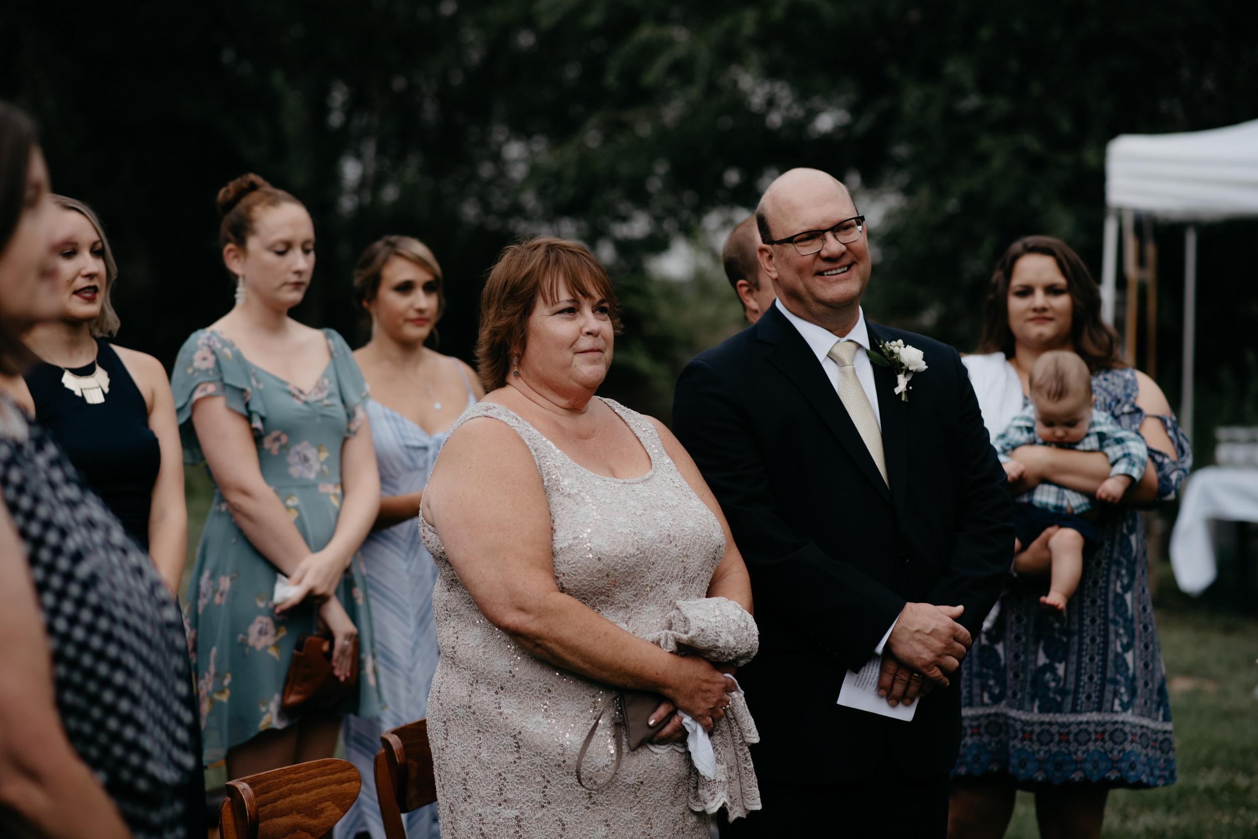 Three Leaf Farm intimate wedding ceremony in Boulder, Colorado