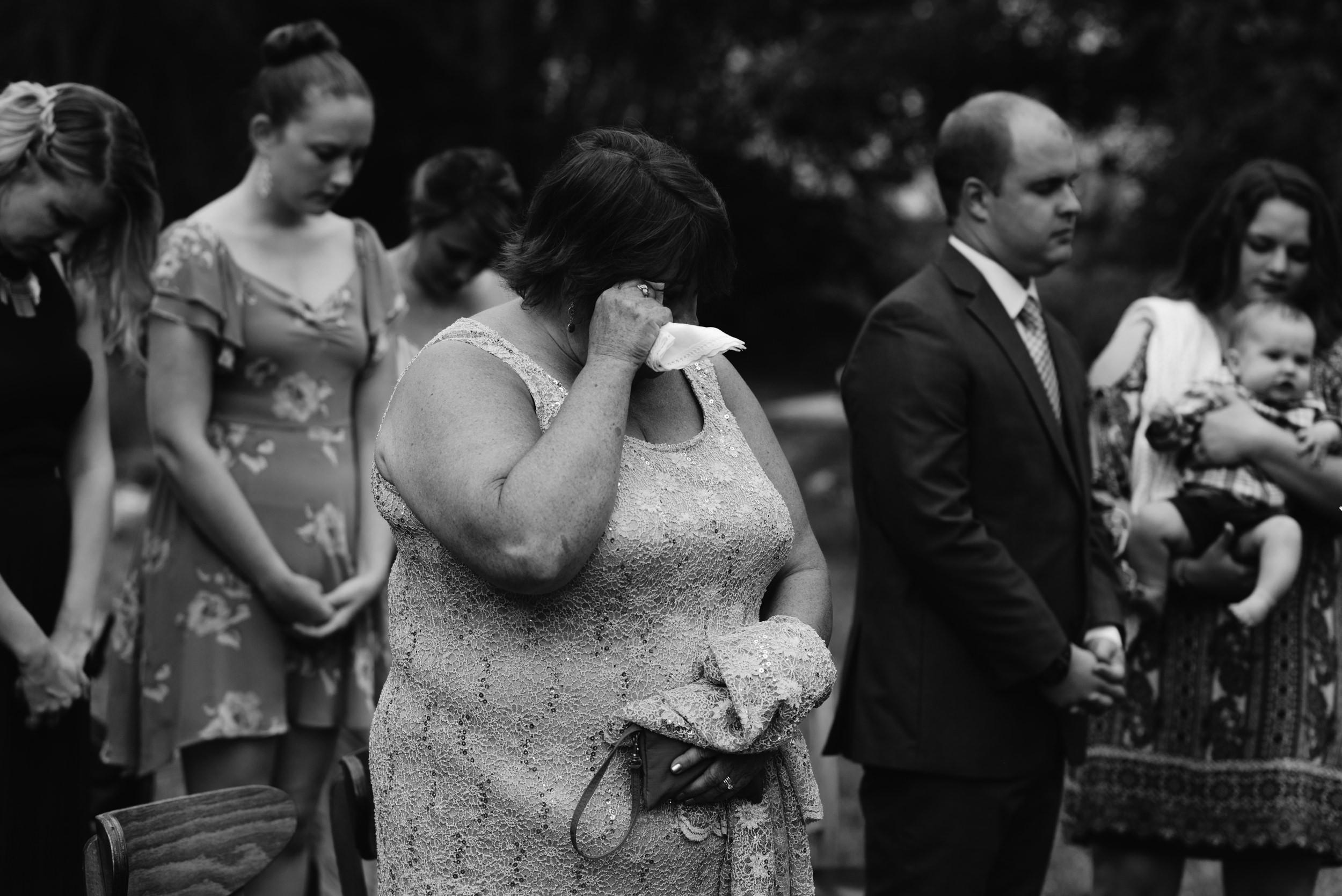Wedding ceremony at Three Leaf Farm. Boulder elopement and wedding photographer.