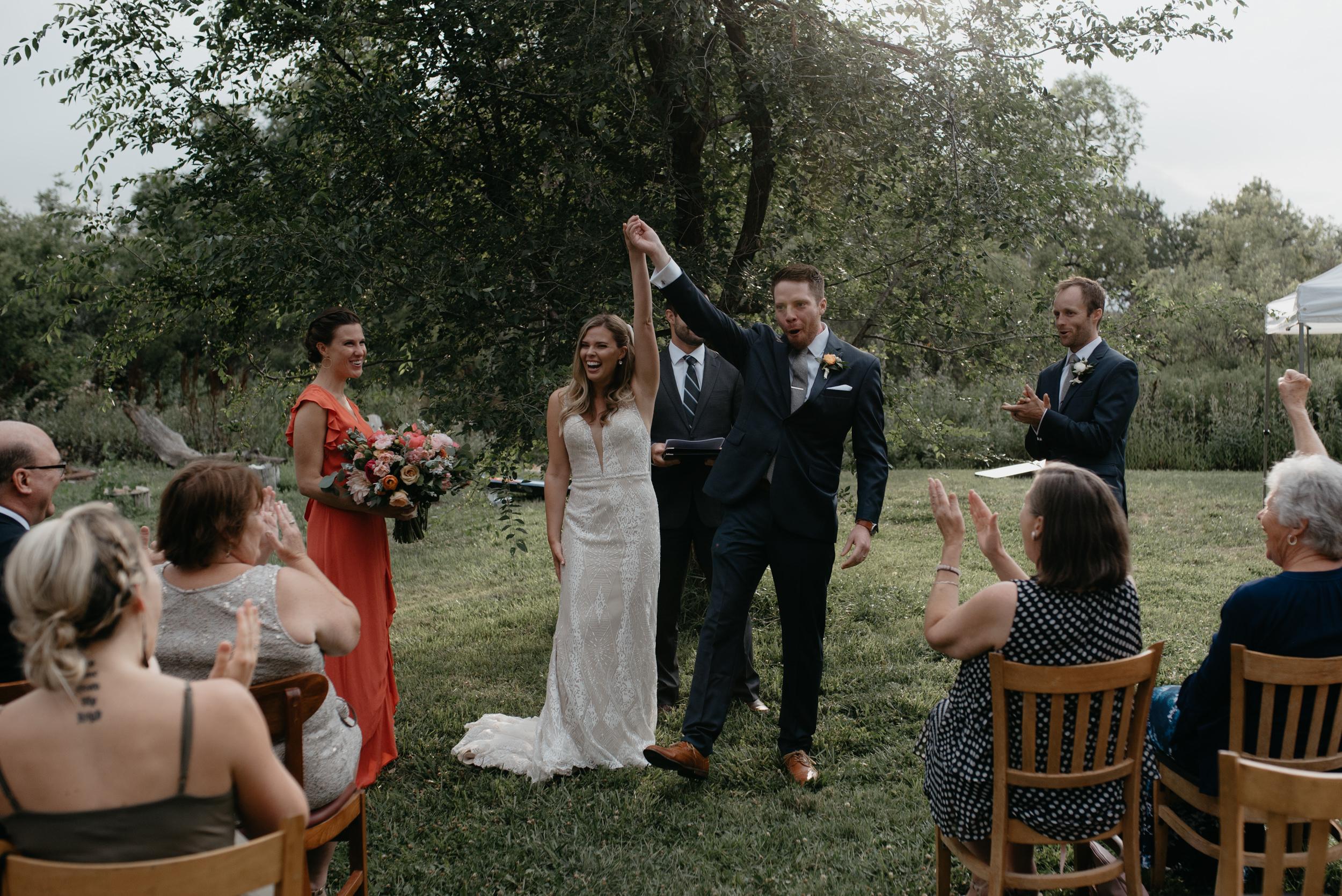 Intimate wedding venue in Colorado, Three Leaf Farm. Boulder, Colorado adventure wedding and elopement photographer.