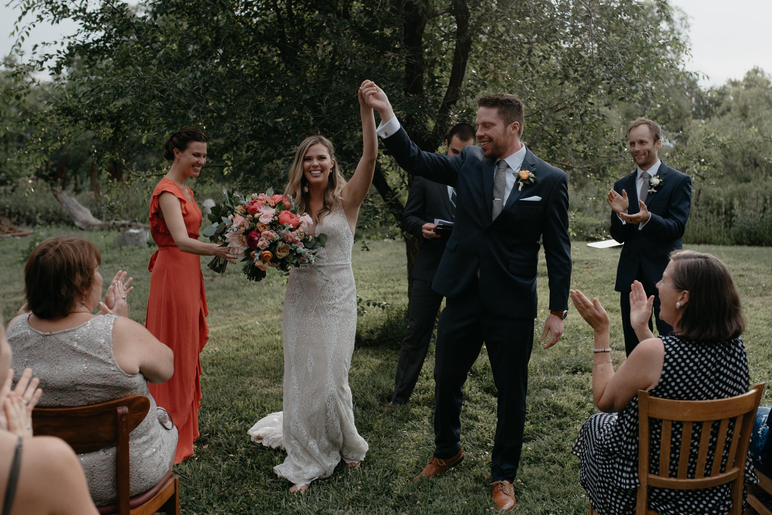 Boulder, Colorado intimate wedding ceremony.