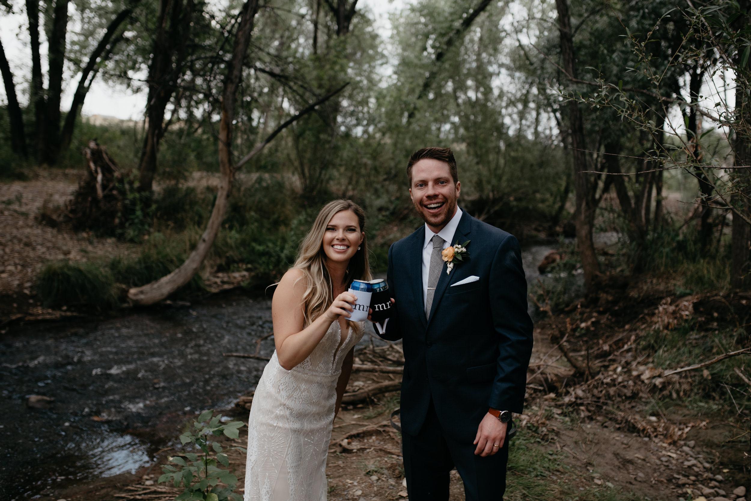 Colorado mountain wedding photos. Wedding at Three Leaf Farm in Boulder, Colorado.