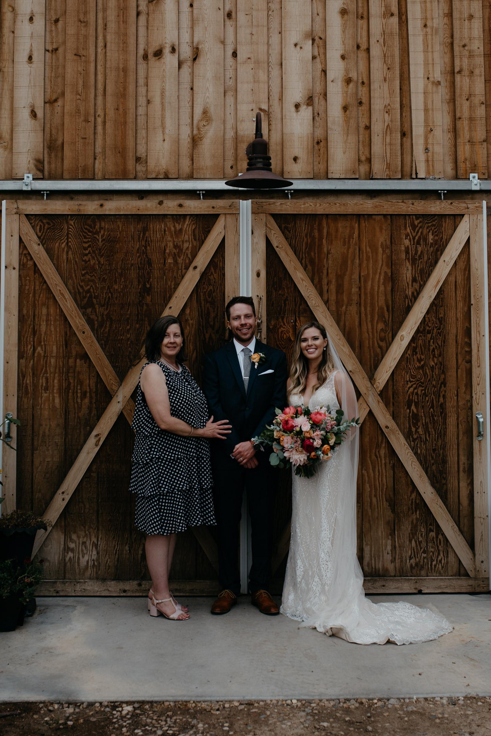 Family photos at intimate Boulder wedding. Colorado wedding and elopement photographer.