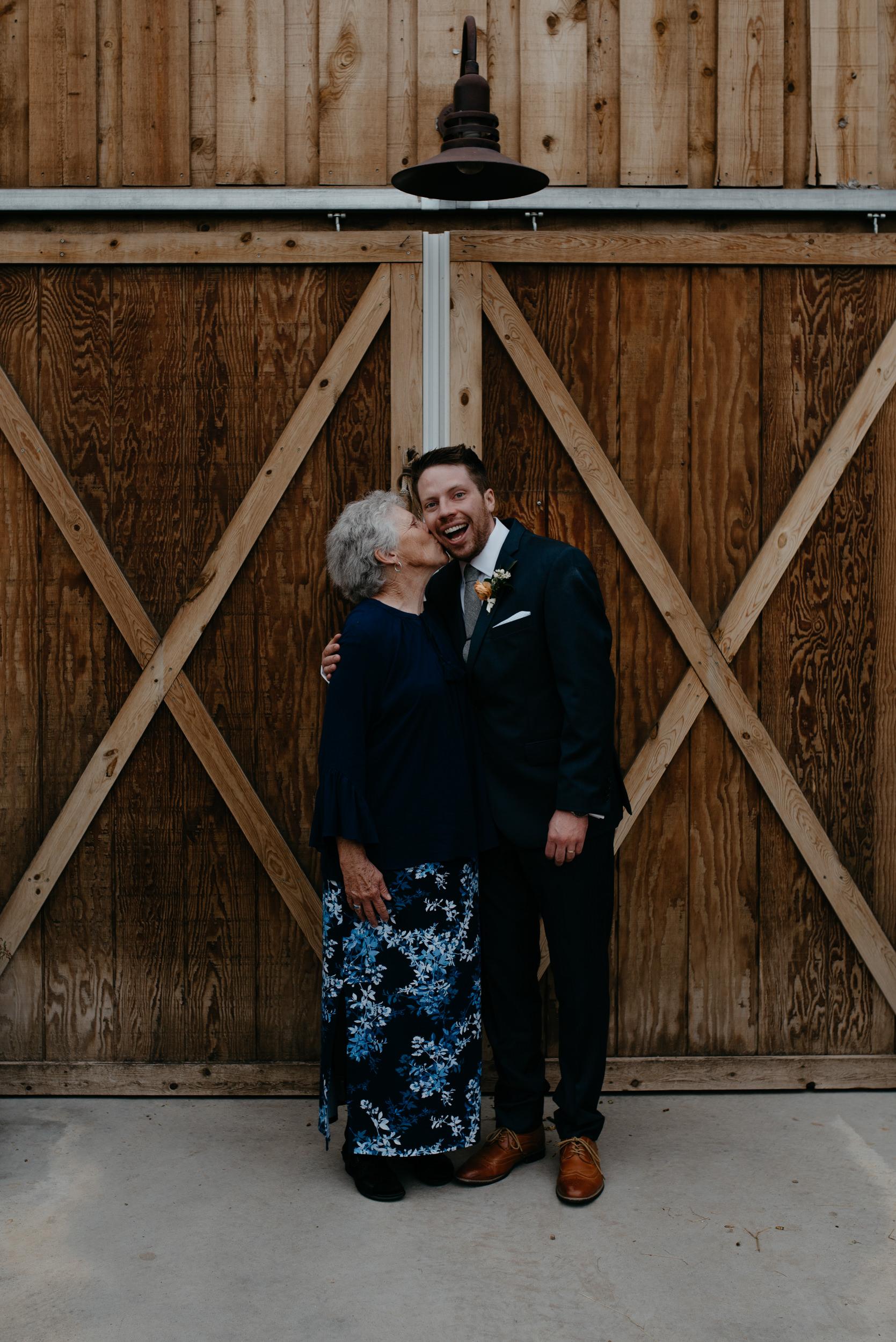 Family photos at Boulder, Colorado farm wedding.