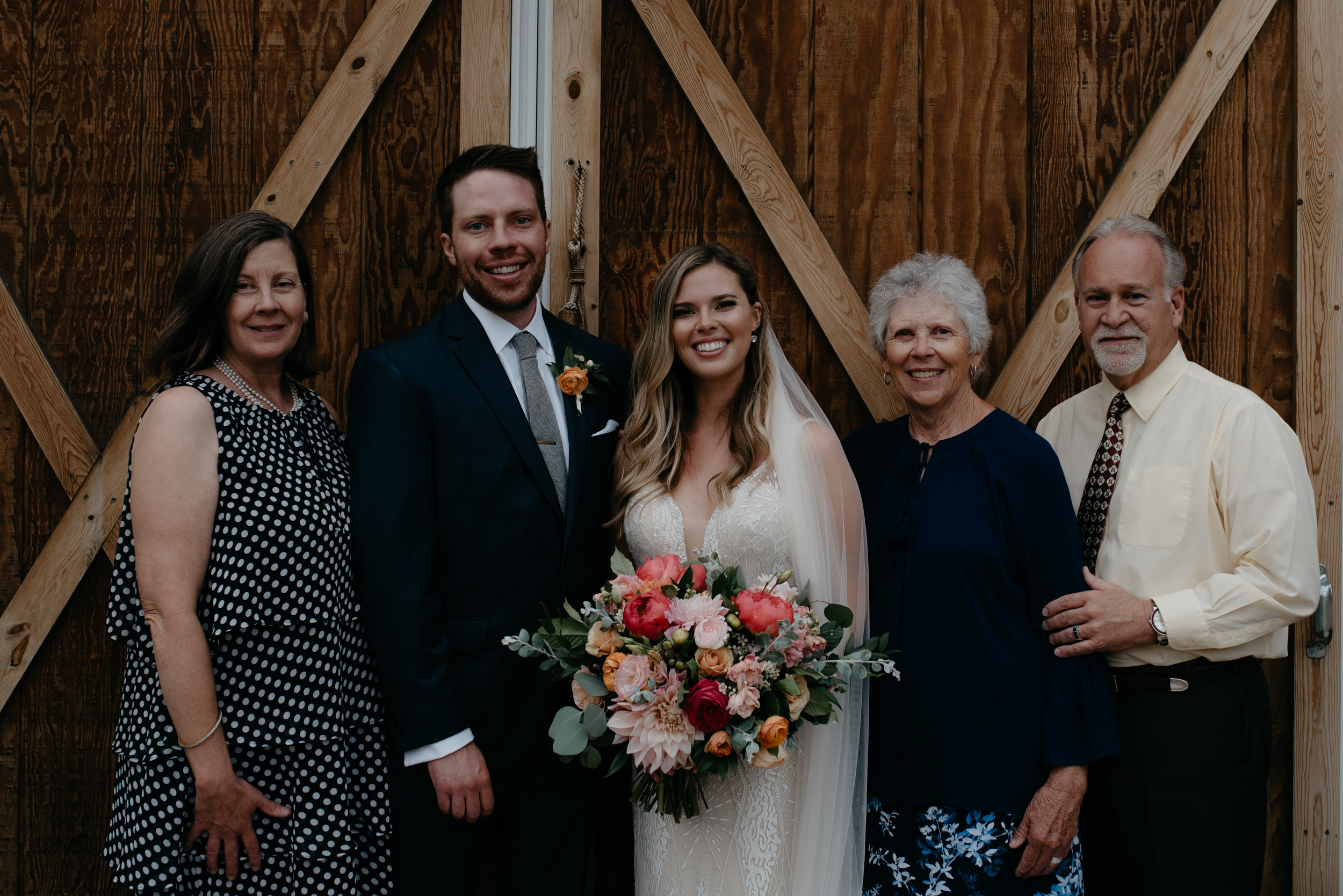 Family formals at intimate Boulder wedding by Colorado wedding photographer.