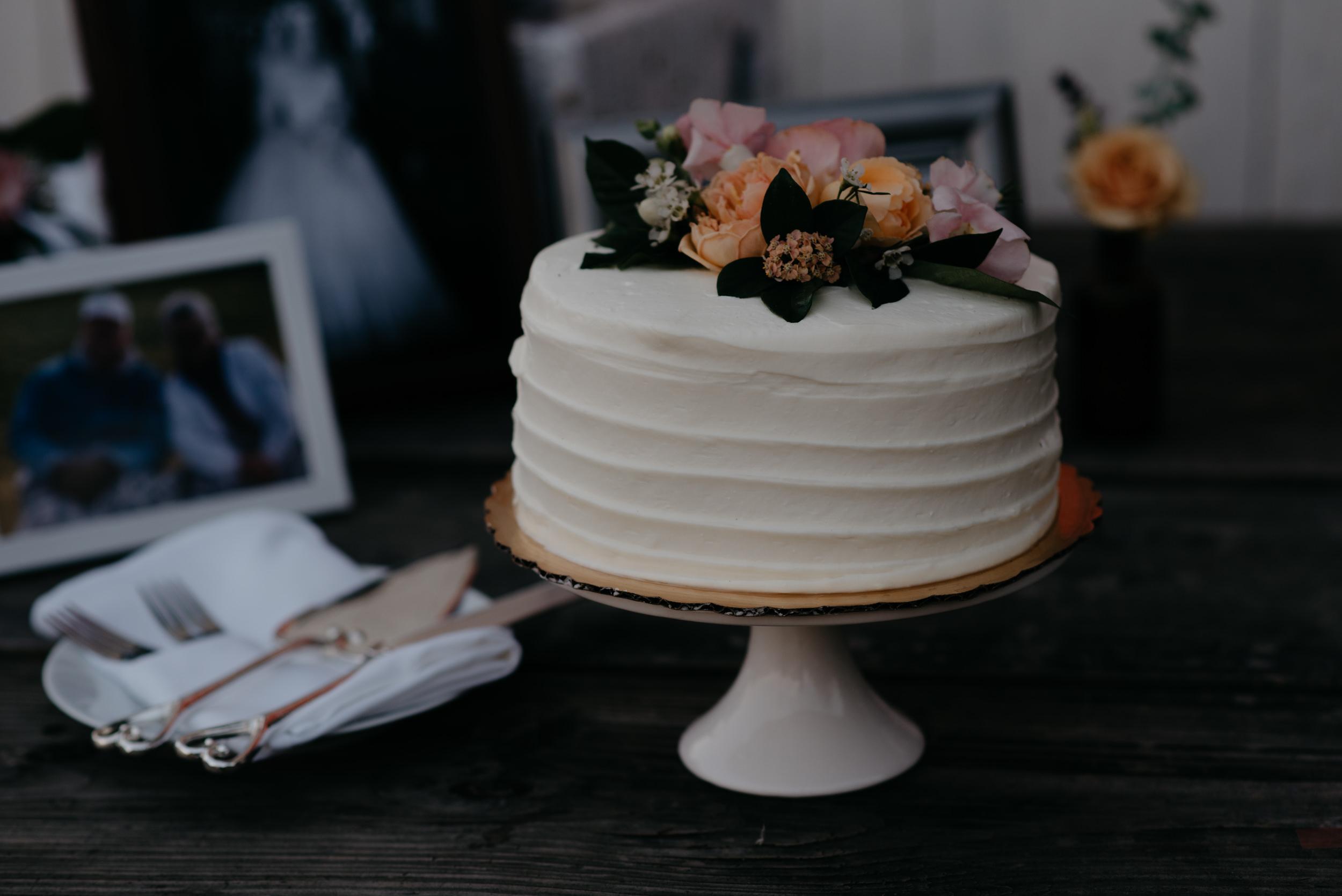 Wedding cake. Colorado elopement and wedding photographer.