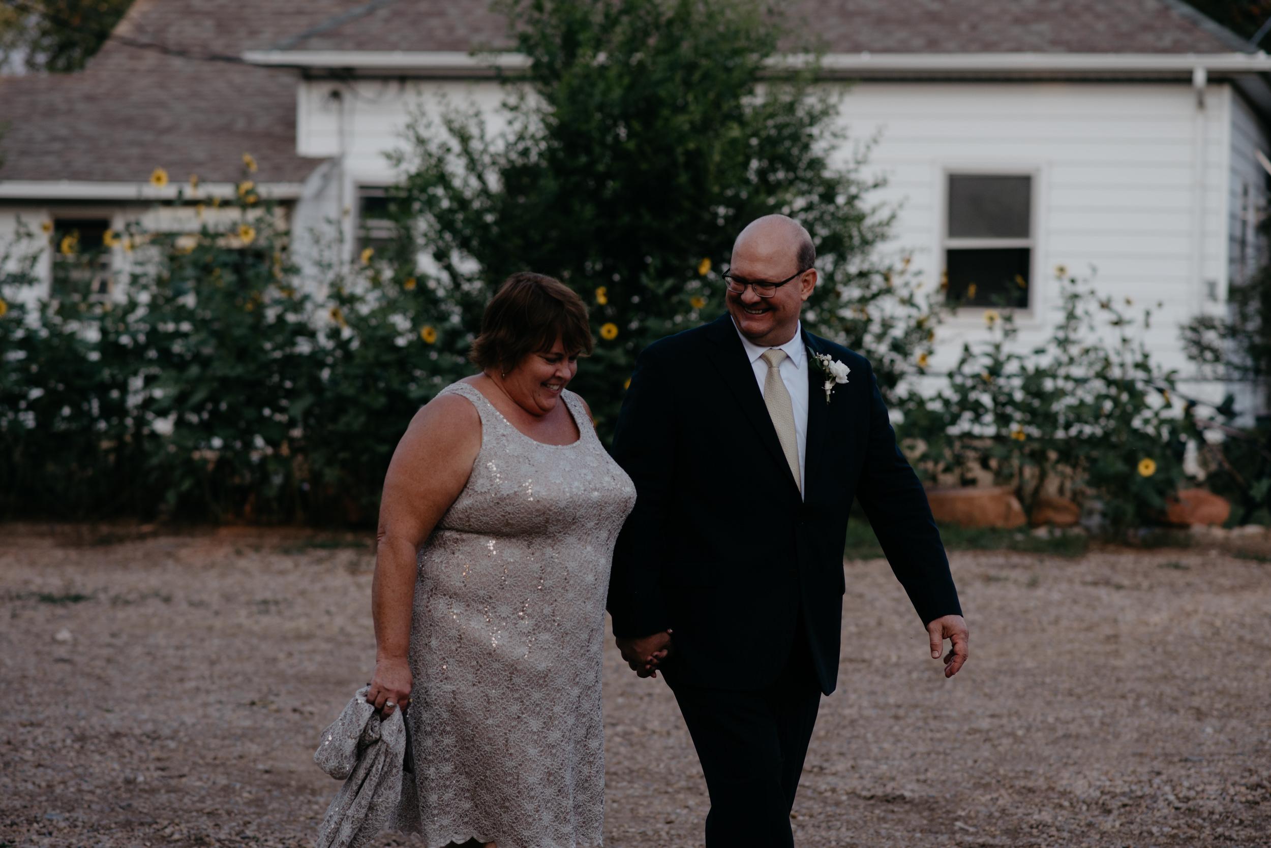 Parents of bride and groom. Boulder wedding photographer. Colorado wedding and elopement photographer. Three Leaf Farm wedding in Boulder, Colorado.