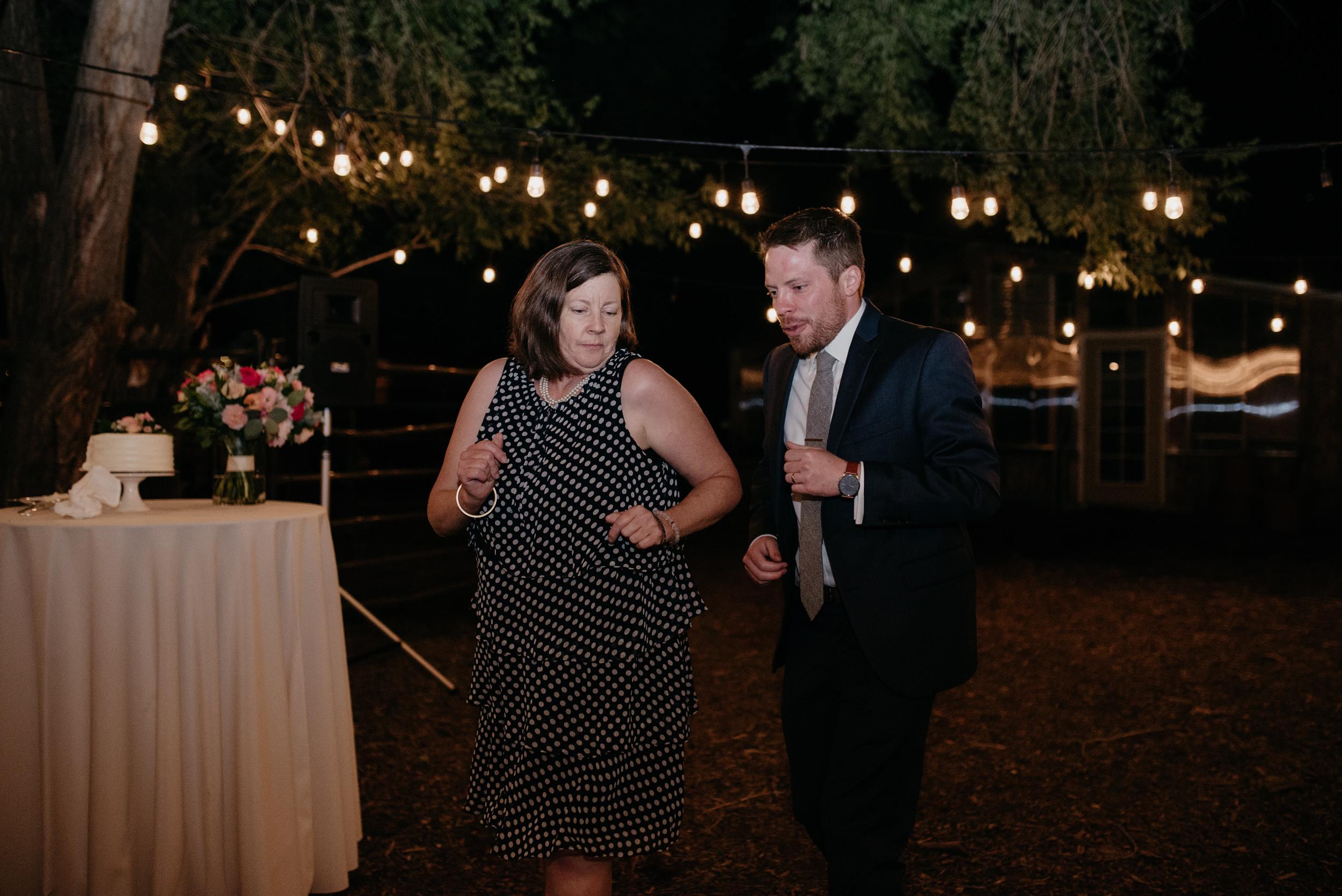 Mother and son dance at reception. Colorado wedding photographer.