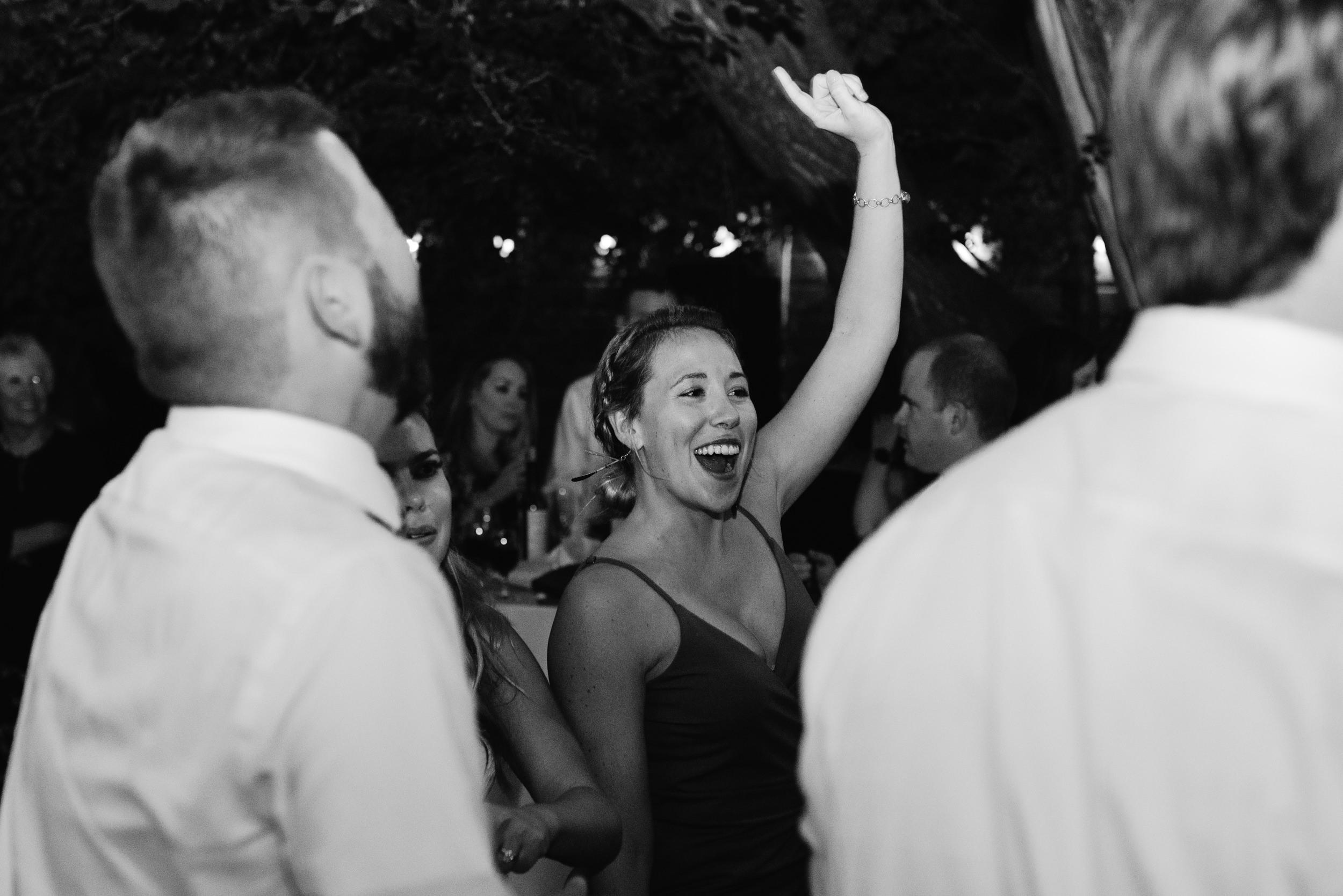Dancing at wedding reception. Colorado wedding and elopement photographer.