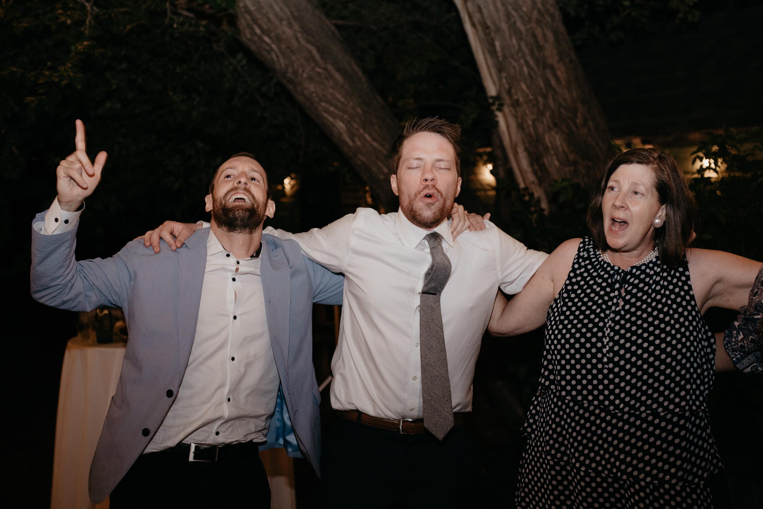 Reception photos at Three Leaf Farm wedding in Colorado. Boulder wedding photographer.