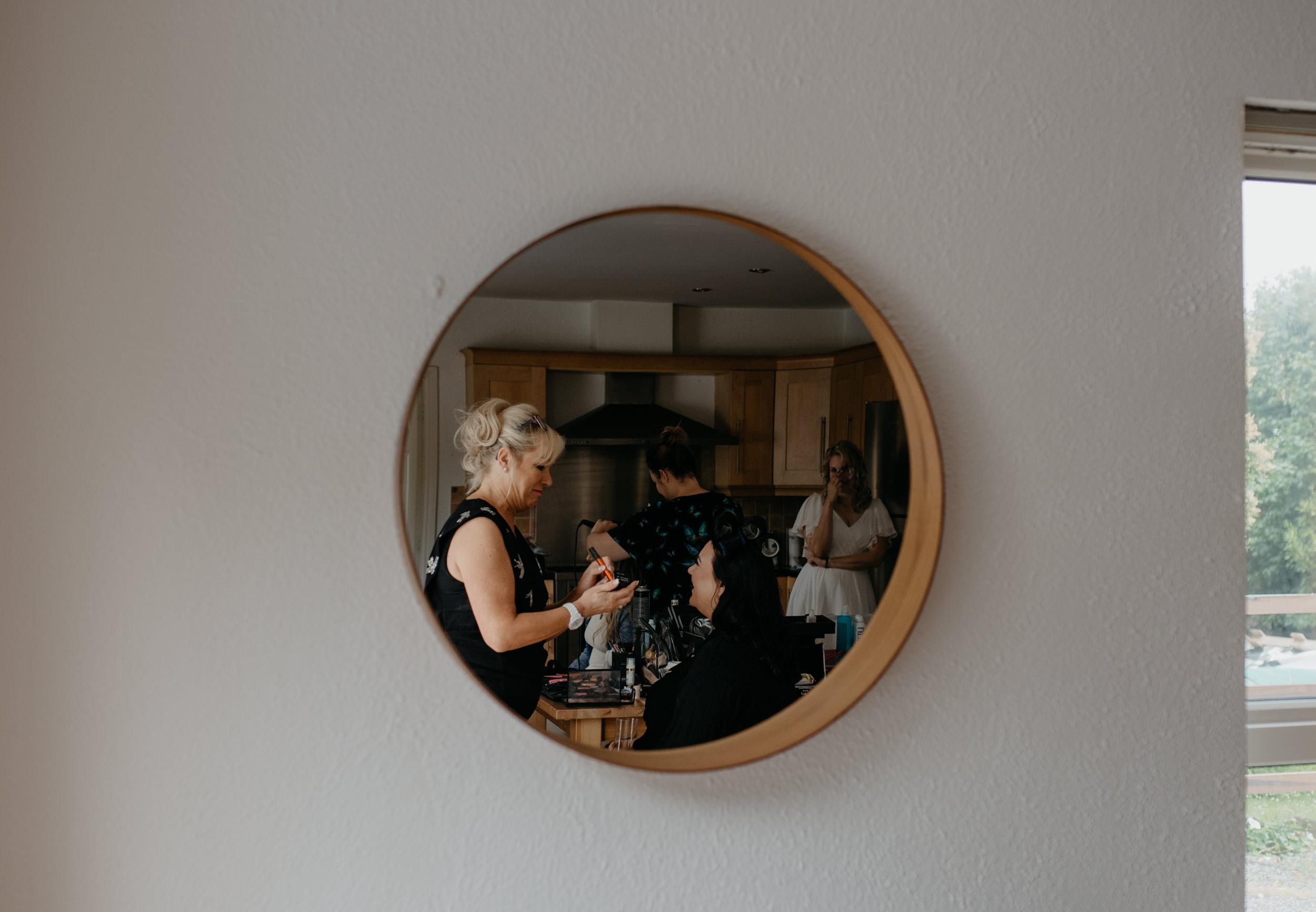 Getting ready photos by County Clare, Ireland wedding photographer. Ireland destination wedding.