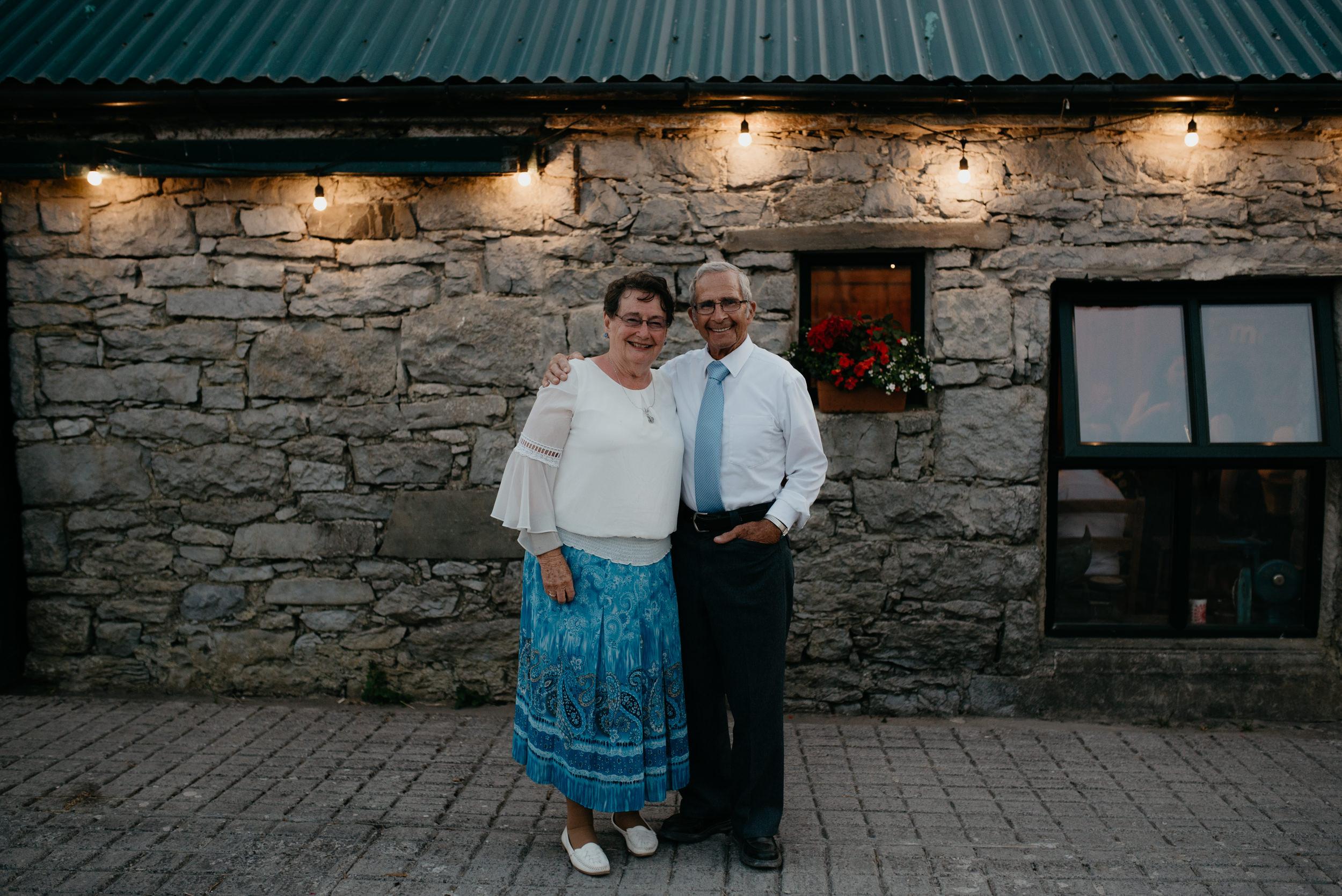 Wedding reception at Vaughan's pub in Ireland. Ireland destination wedding and elopement photographer. County Clare, Ireland wedding photographer. Cliffs of Moher destination elopement.