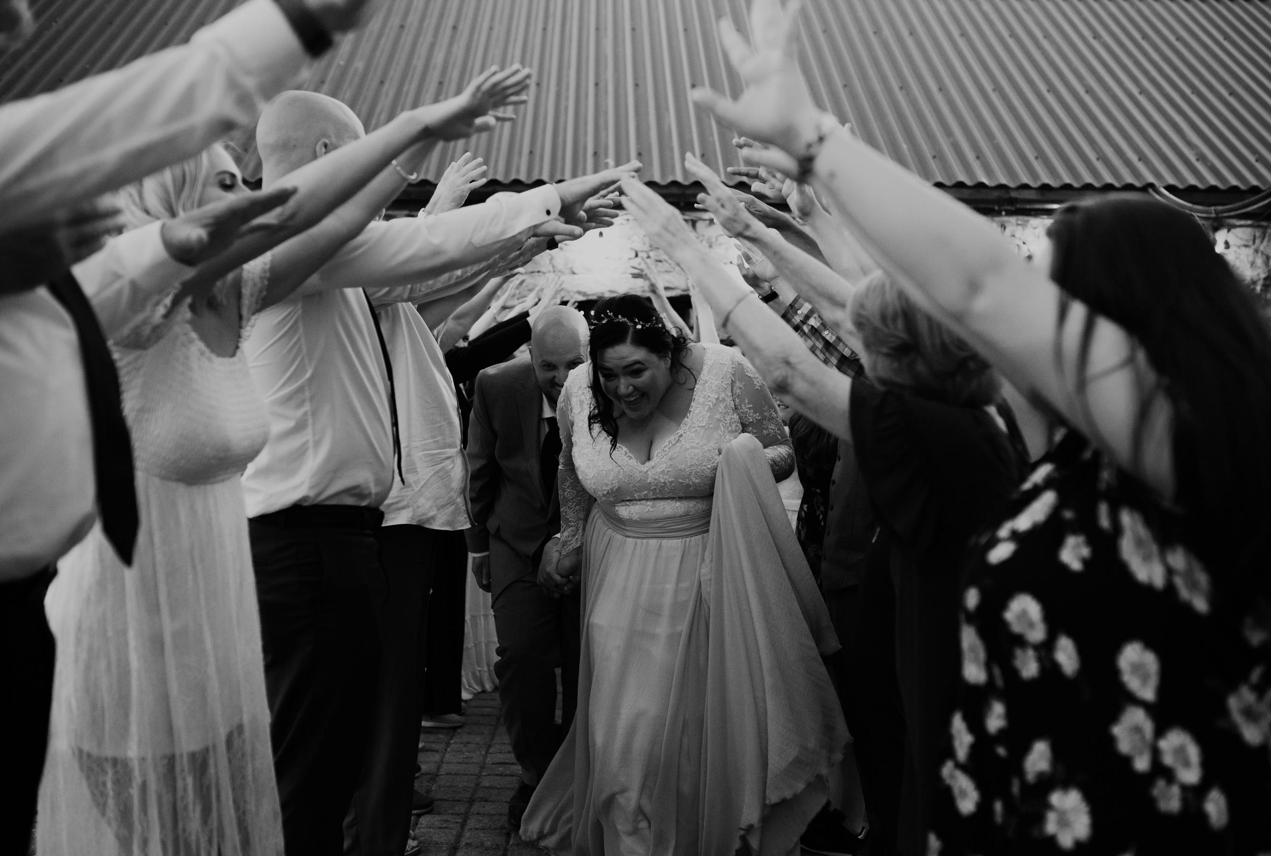 Reception exit at Ireland Destination wedding in County Clare, Ireland.