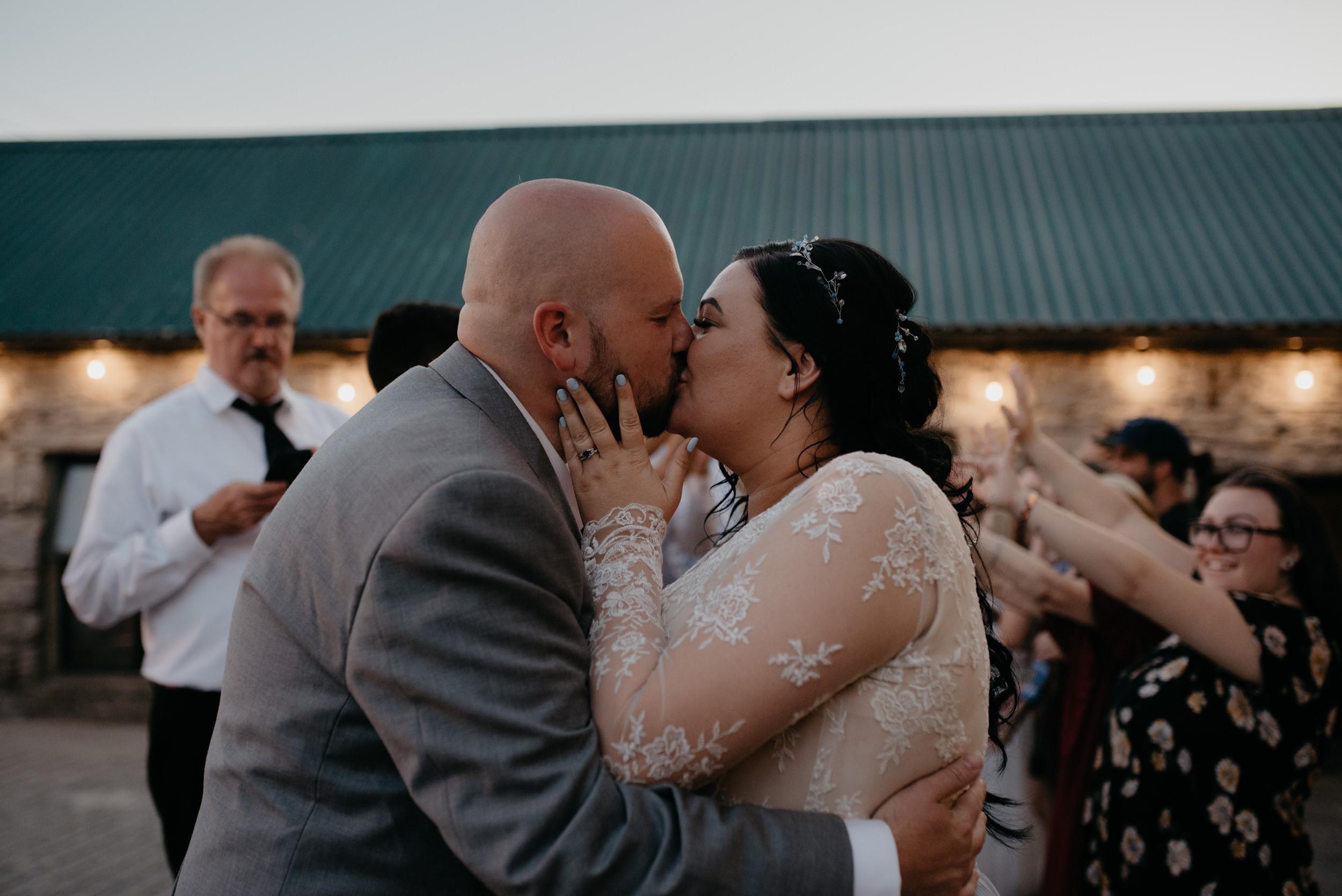 Ireland destination wedding and elopement photographer. Destination wedding in County Clare, Ireland. Reception at Vaughan's Pub in Kilfenora.