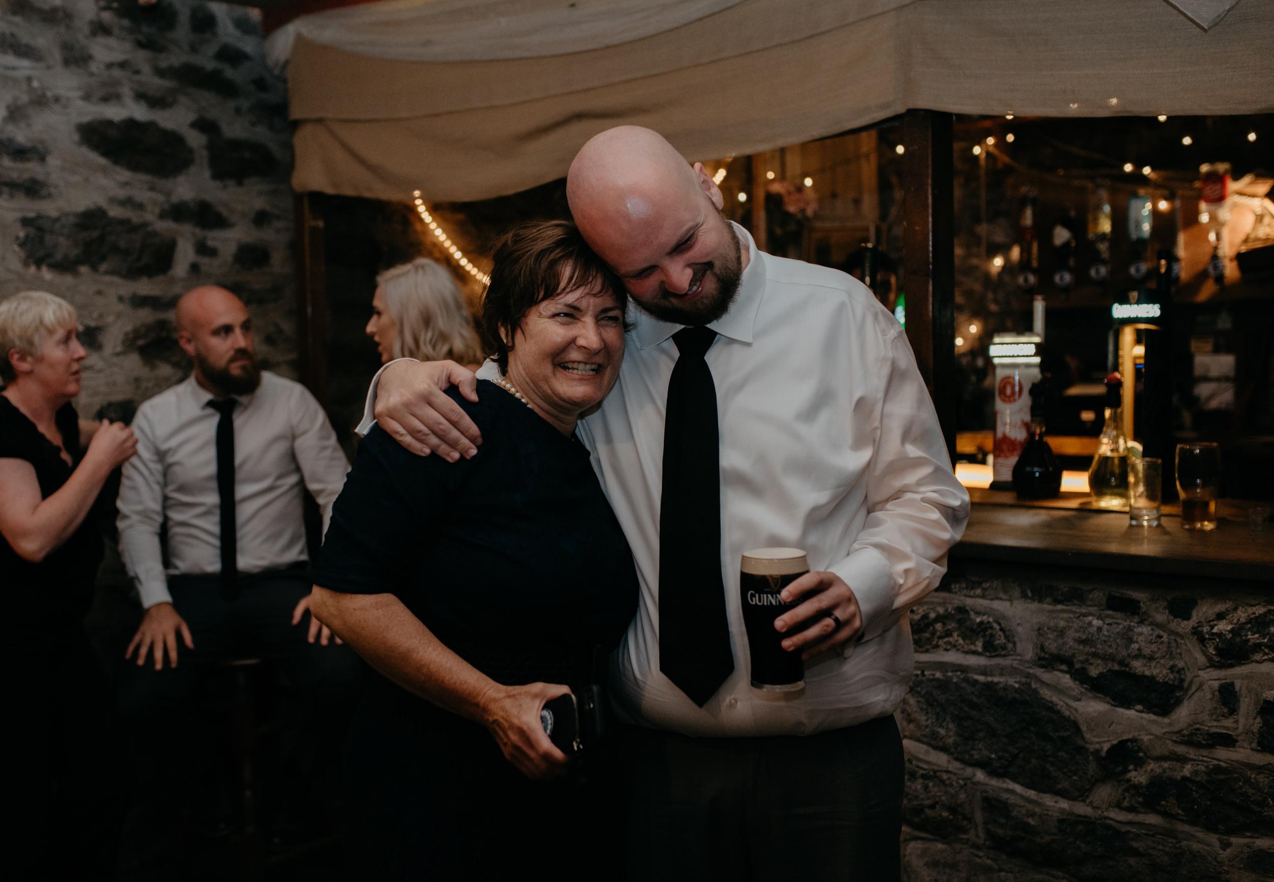 Vaughan's Pub wedding reception in County Clare, Ireland.