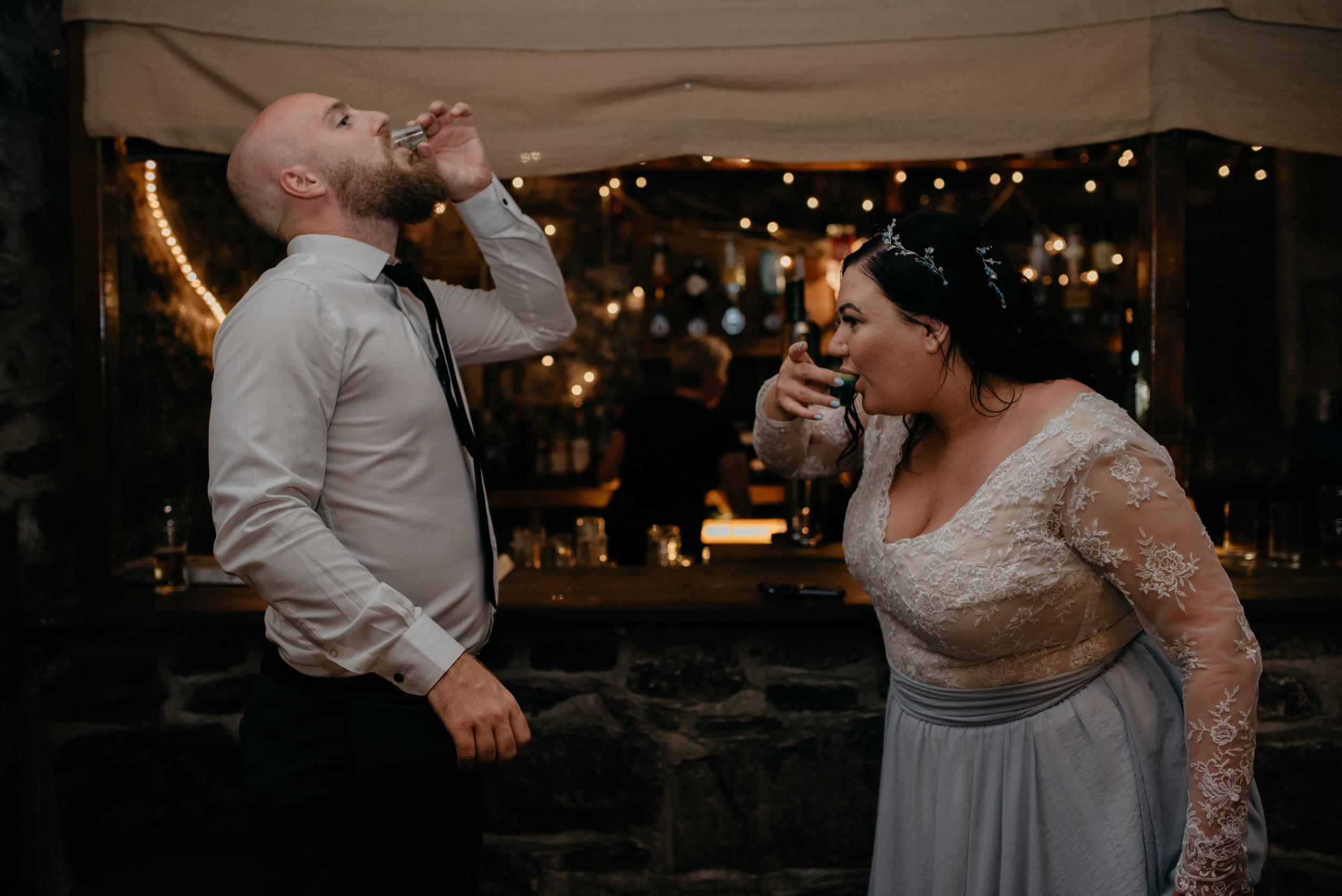 Wedding reception at Vaughn's Pub. County Clare, Ireland wedding photographer.