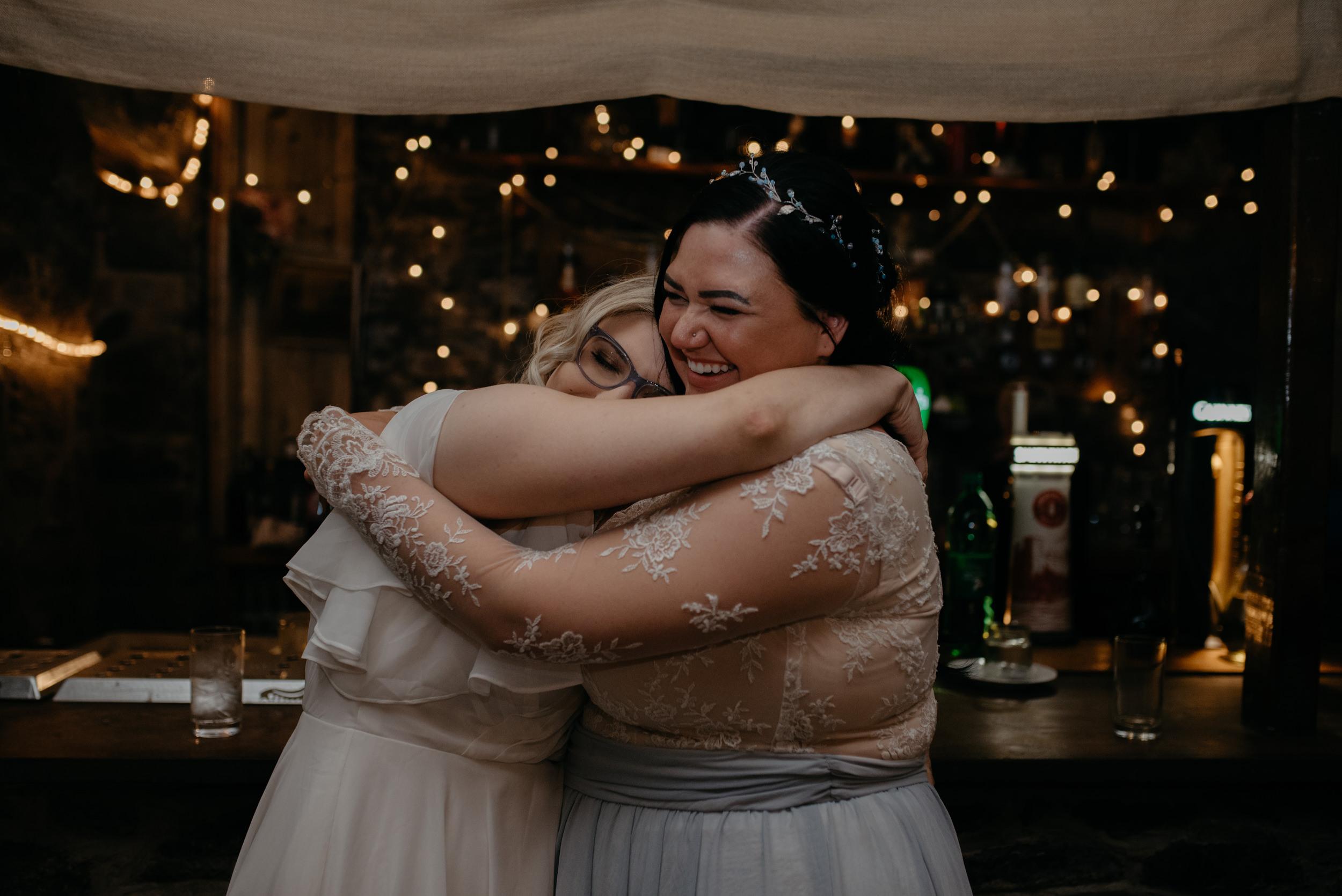 Wedding Reception at Vaughn's Pub in Kilfenora. County Clare, Ireland wedding and elopement photographer.