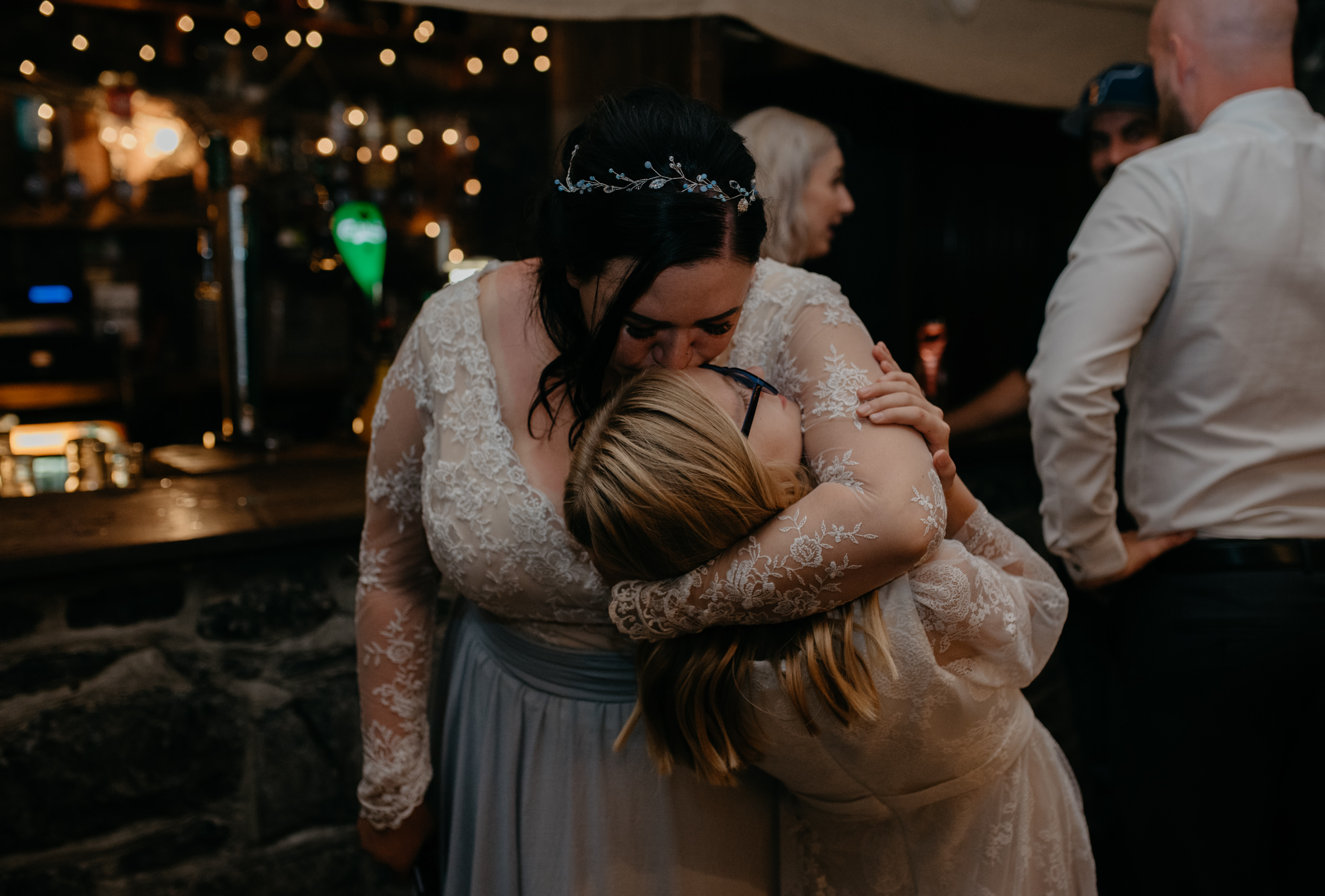 Reception at Vaughn's Pub in Kilfenora. Ireland wedding and elopement photographer.