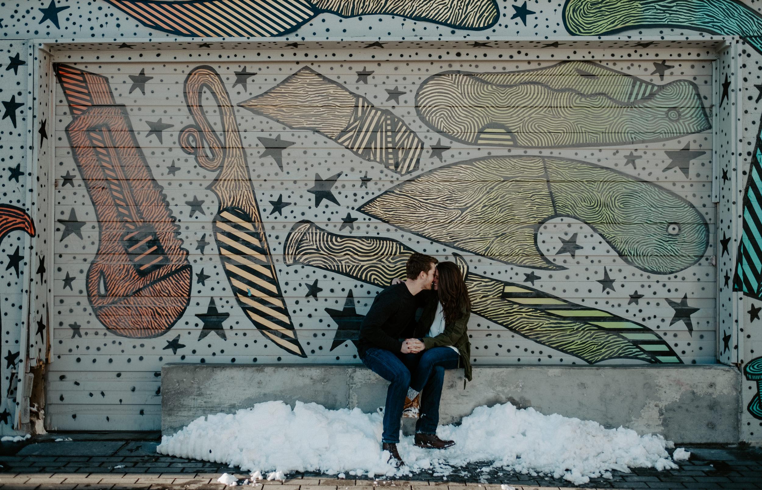 Colorado engagement photographer. Denver wedding photographer. Downtown Denver urban engagement photos.