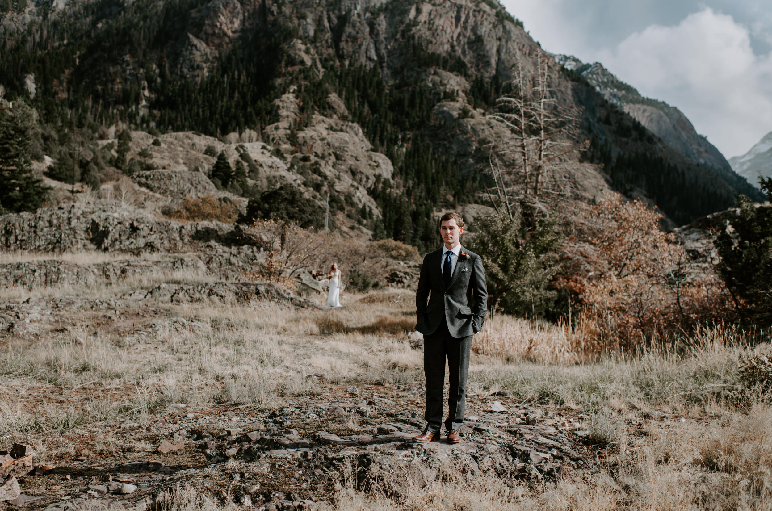 First look, Ouray, Colorado elopement.