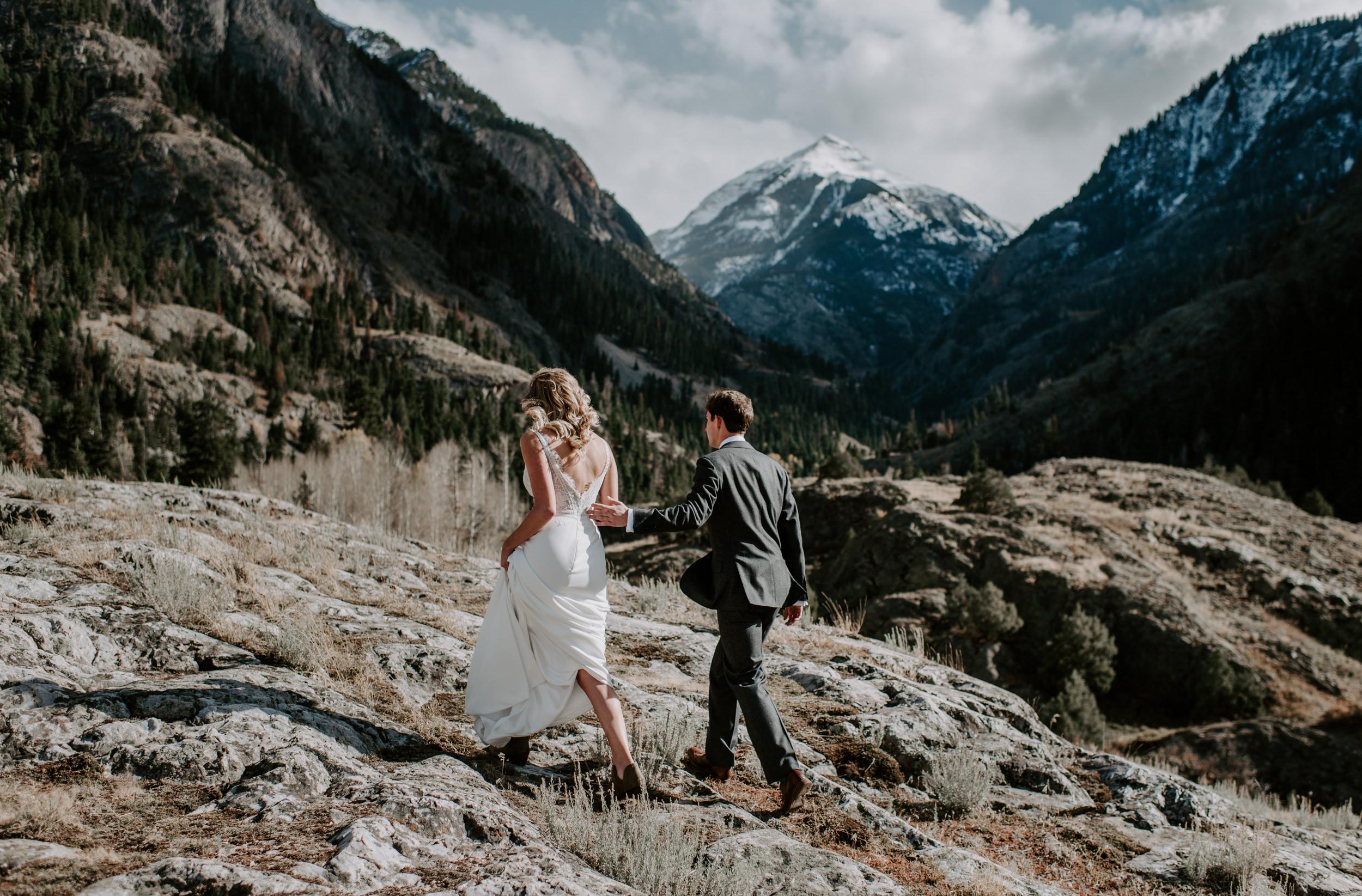 Ouray, Colorado mountain elopement. Denver boho wedding photographer. Telluride wedding photos.