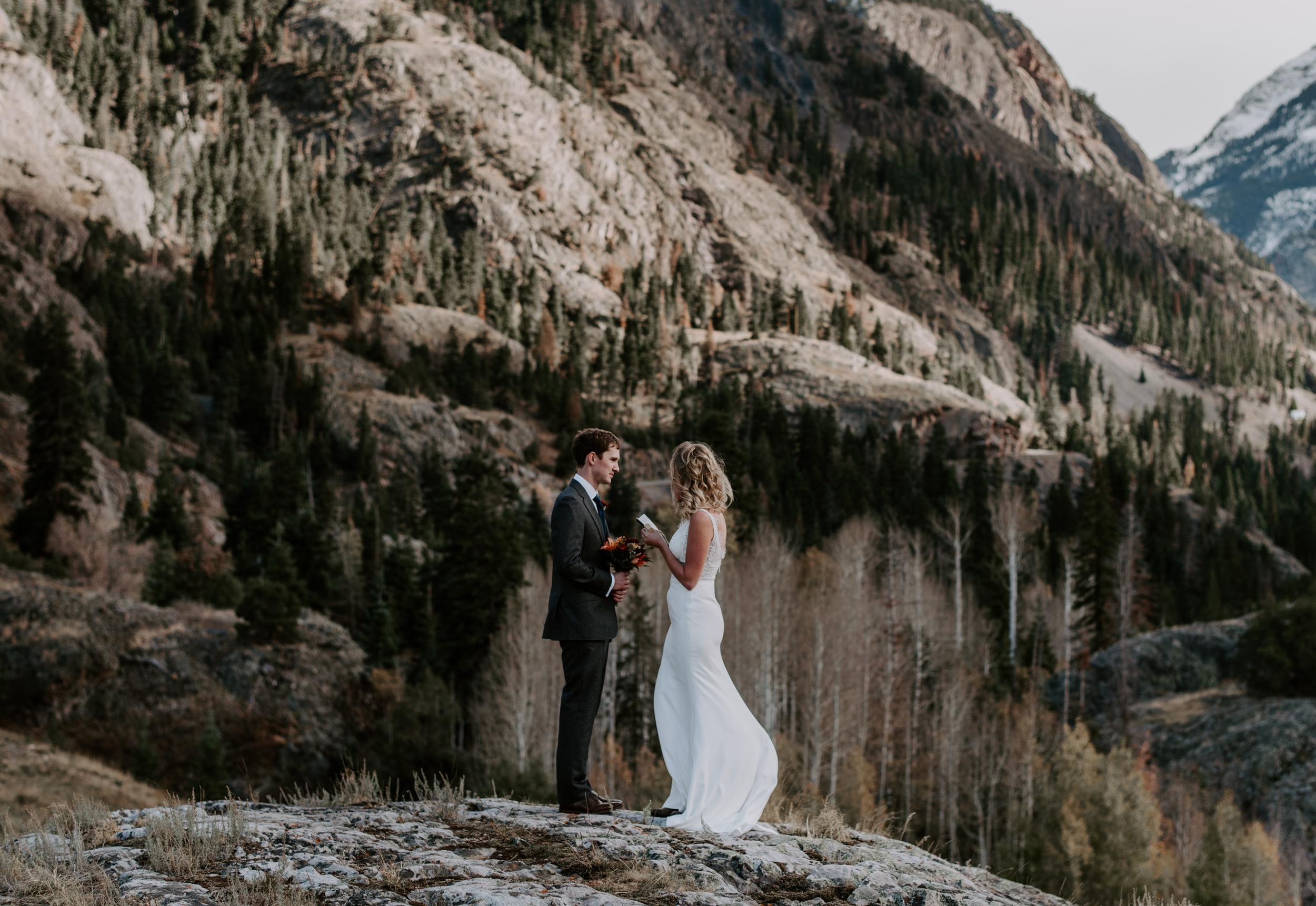Ouray, Colorado elopement ceremony.