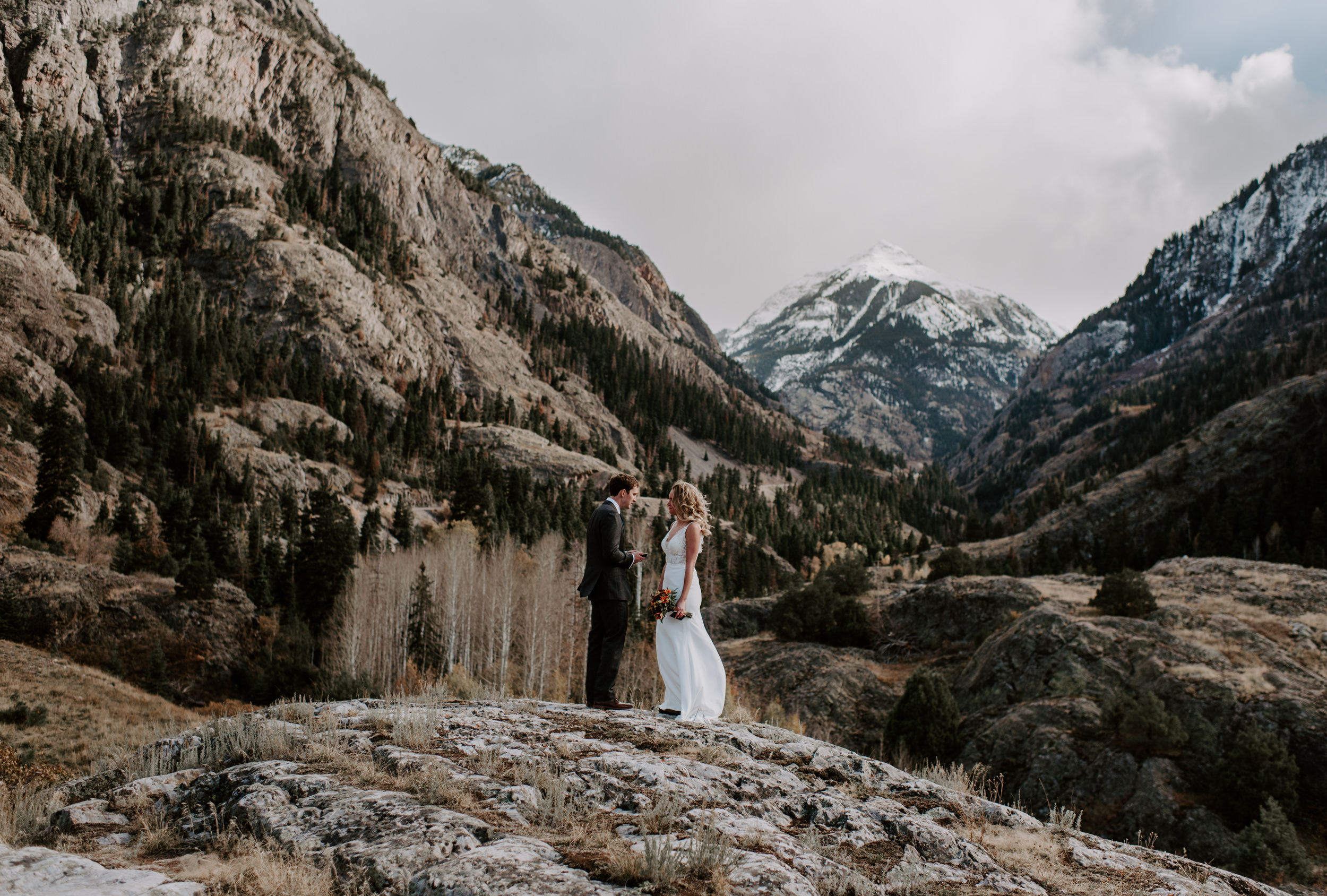 Ouray, Colorado wedding photographer. Intimate mountain ceremony in Ouray.