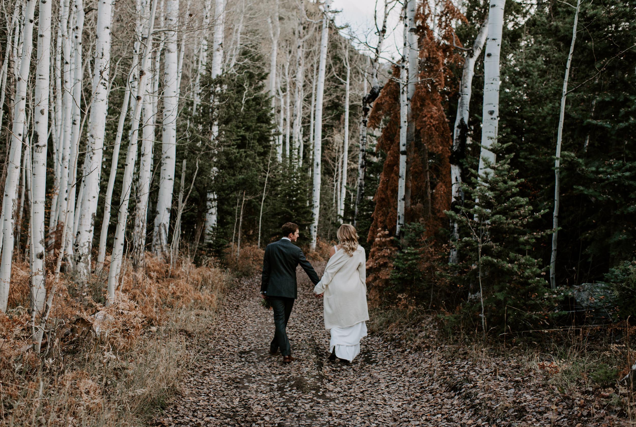 Fall Colorado mountain elopement photos in Ouray, Colorado.