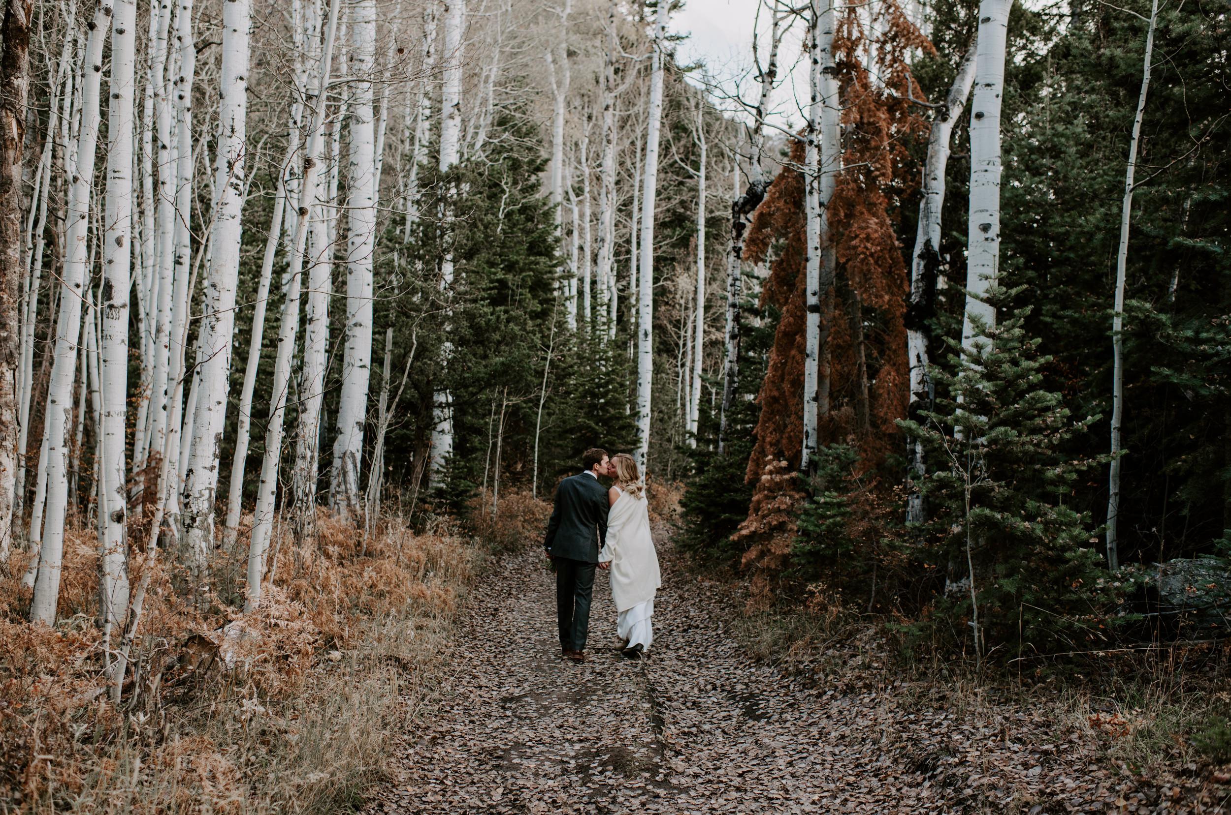 Fall Colorado elopement photos in Ouray, Colorado. Telluride wedding and elopement photographer.