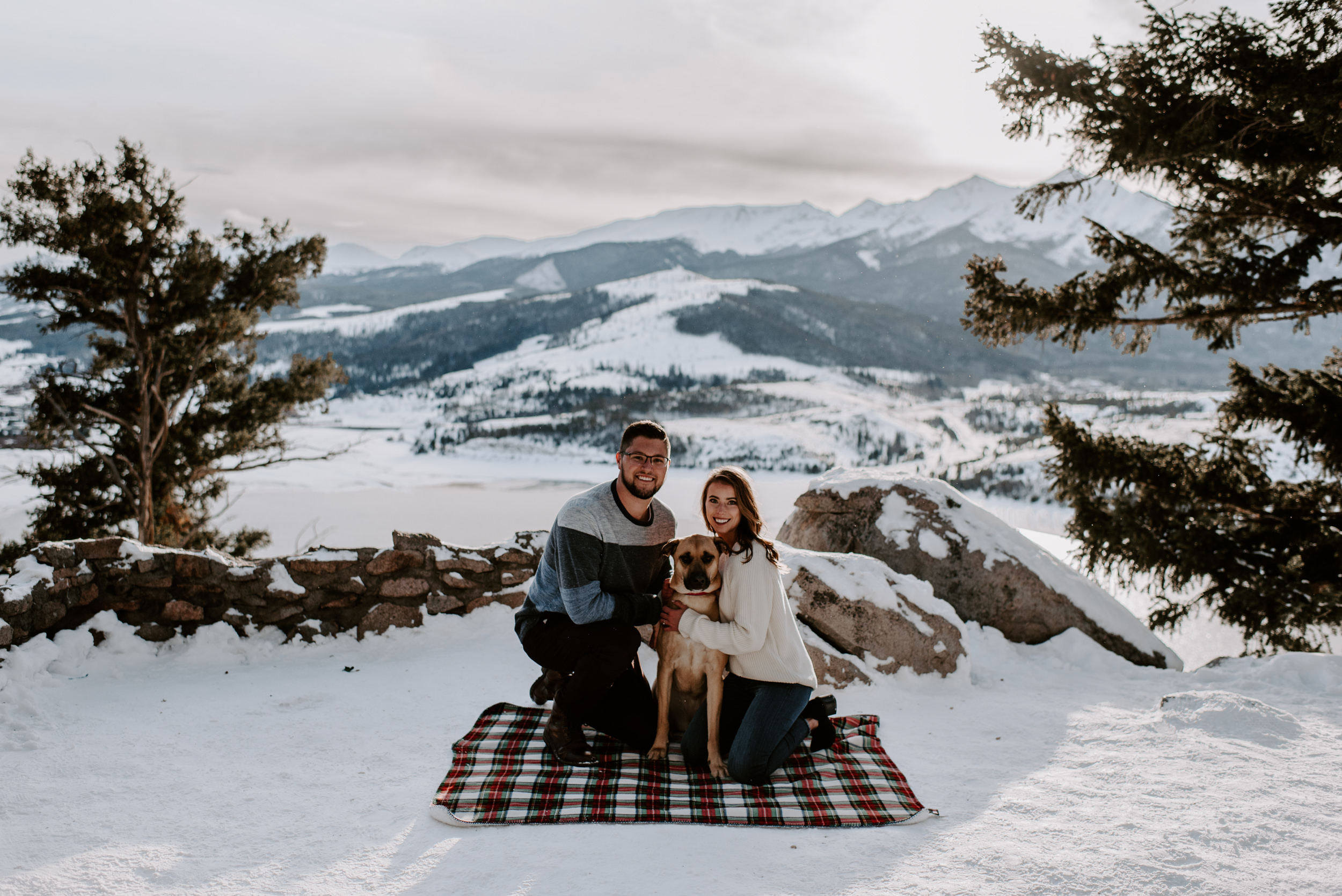 Sapphire Point engagement session in Dillon, Colorado.