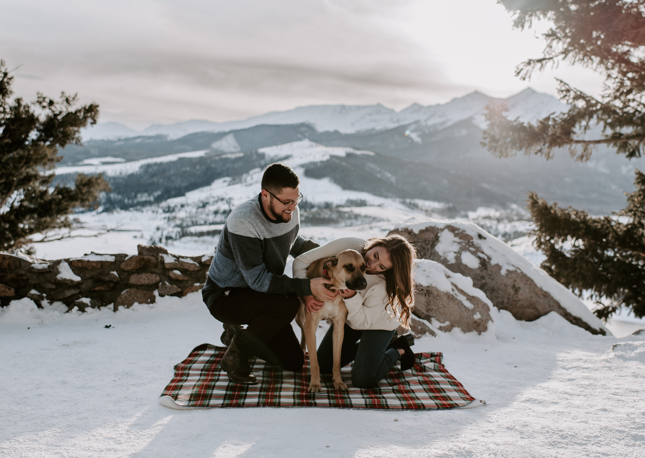 Sapphire Point mountain adventure engagement session in Dillon, Colorado. Colorado wedding and elopement photographer.