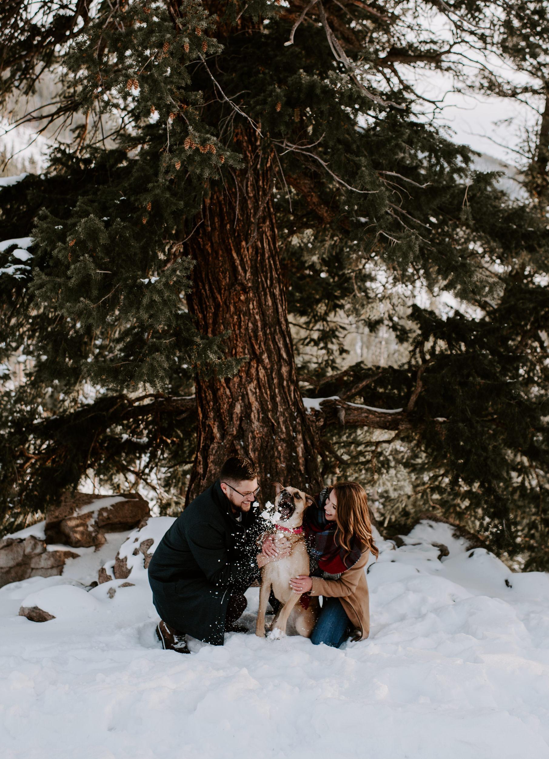 Sapphire Point Overlook proposal in Dillon, Colorado. Alyssa Reinhold is a Colorado mountain wedding and elopement photographer.