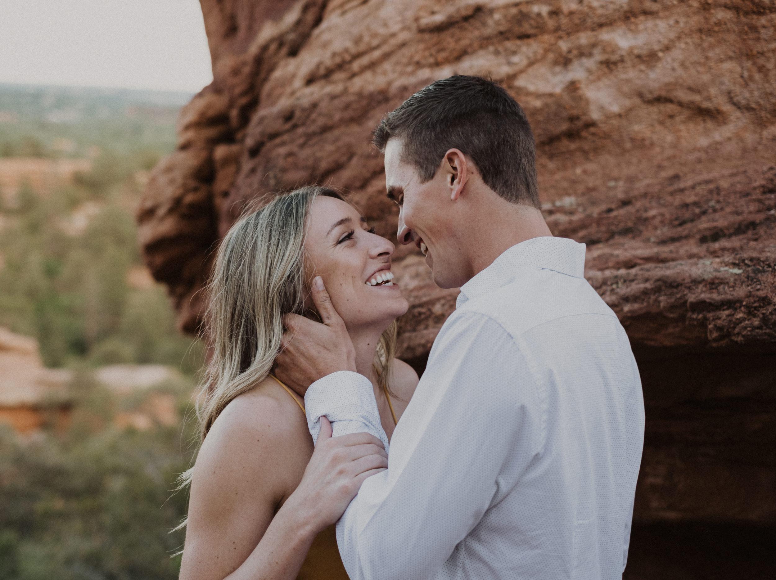 Elopement photo at Garden of the Gods. Colorado based elopement and wedding photographer. Garden of the Gods wedding. Colorado Springs elopement.