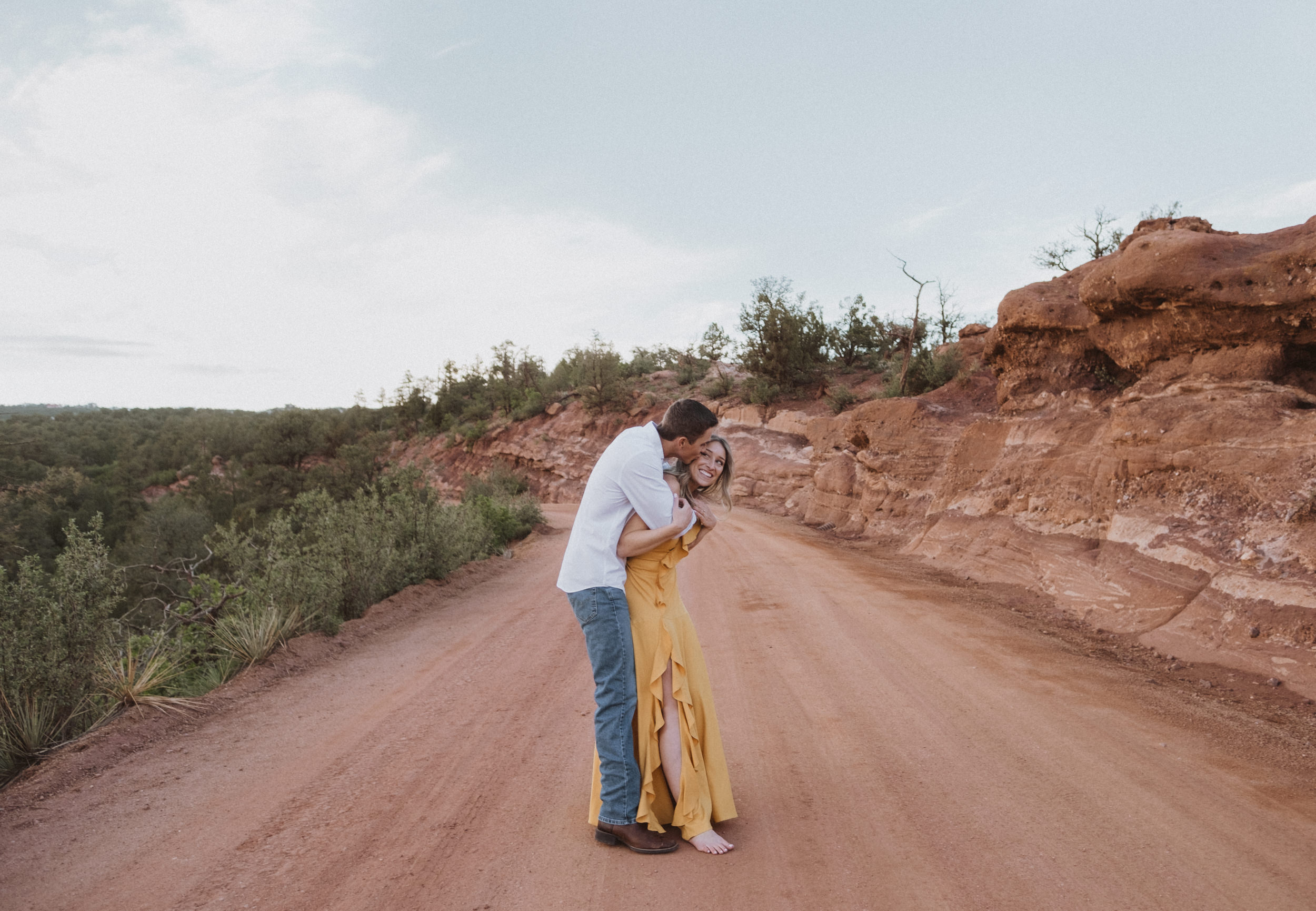 Engagement photos at Garden of the Gods. Colorado Springs wedding photographer. Garden of the Gods engagement session.