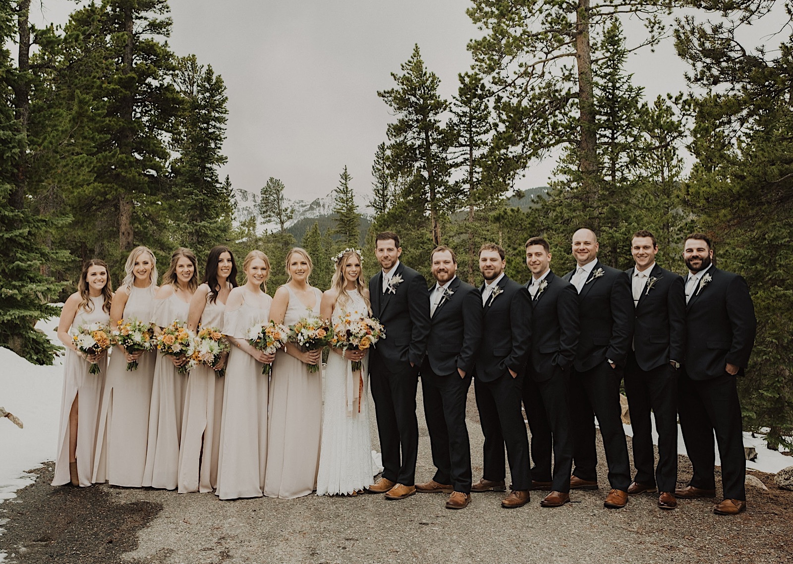 Blackstone Rivers Ranch Wedding, Colorado Wedding Photographer, Colorado Elopement Photographer, Colorado Mountain Wedding, Colorado Wedding Ideas, Colorado Wedding Inspiration, Destination Wedding in Colorado, Places to Elope in Colorado, Places to get married in Colorado, Boho Wedding Inspiration, Wedding Photography, Wedding ideas, Wedding Inspiration, Bridal Party Photos, Wedding party photos, groomsmen posing, groomsmen photos, bridesmaids dresses, bridesmaids photos