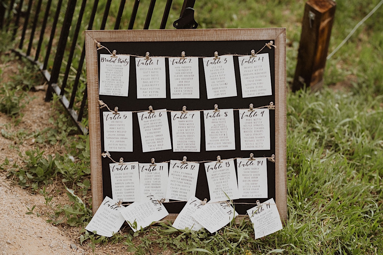 Stonewall Farm Wedding, Colorado Wedding Photographer, Berthoud Wedding Photographer, Fort Collins Wedding Photographer, Colorado Wedding, Colorado Farm Wedding, Colorado Wedding Ideas, Colorado Wedding Inspiration, Wedding ideas, Wedding photography, Wedding inspiration, Farm Wedding, Unique Wedding Ideas, Wedding Photos, Wedding Reception, Wedding Seating Chart, Picture frame seating chart, Clothes Pin Seating Chart