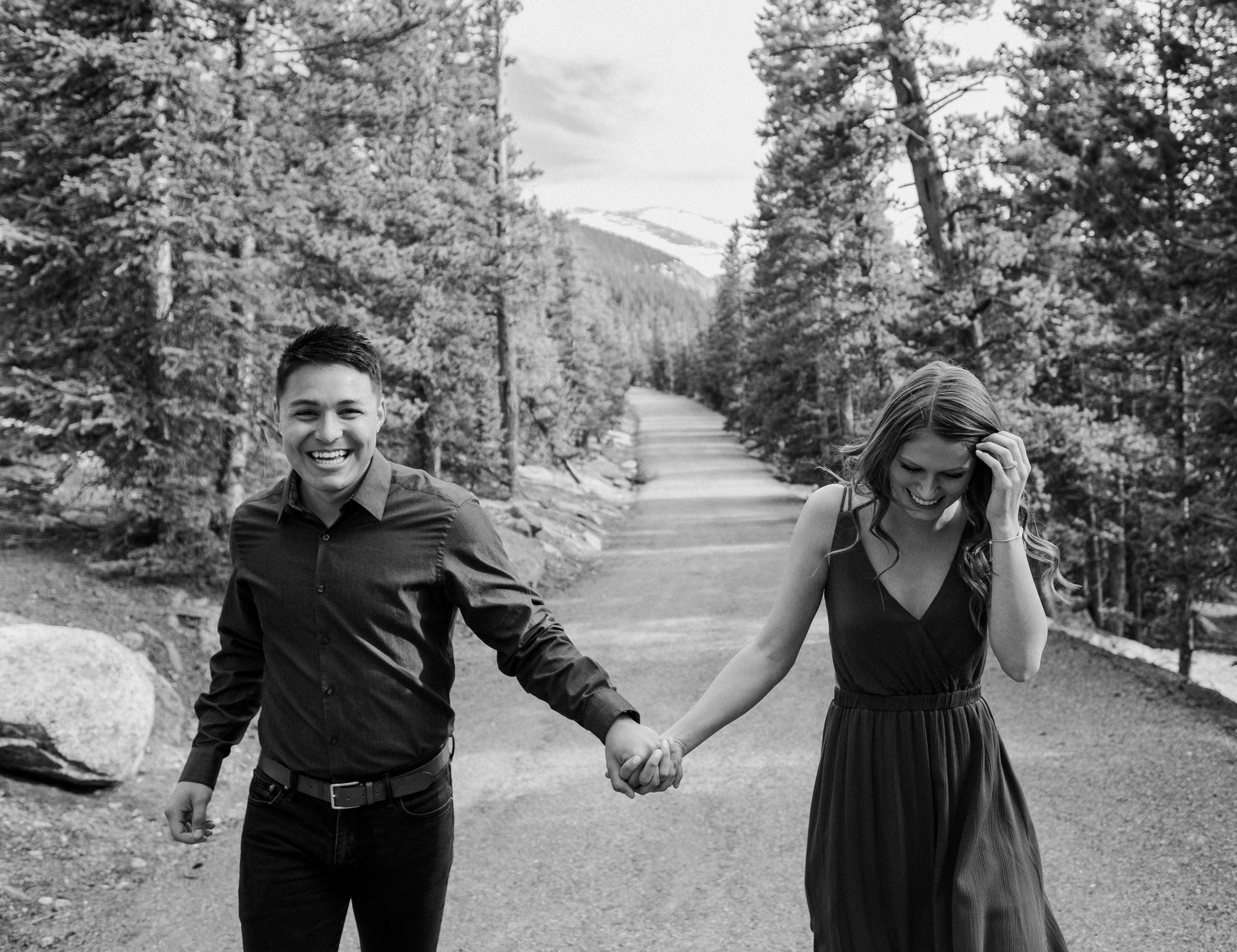 Colorado engagement photos. Echo Lake engagement session. Mt. Evans engagement photos. Colorado wedding photographer. Colorado mountain engagement photography.