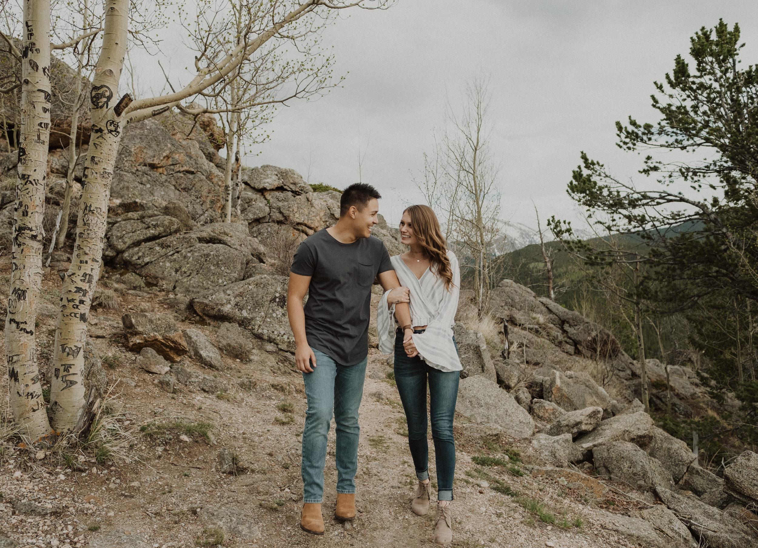 Colorado adventure engagement photos. Colorado elopement and wedding photographer. Mt. Evans mountain engagement session