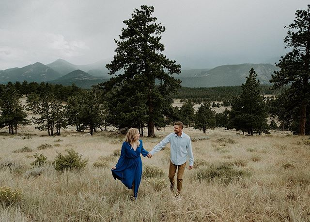 Had the best time with these two for their engagement session in rmnp 😍 We started up on trail ridge road where we got rained on and hailed on and it was ridiculous and so much fun. Then finished the night off in this gorgeous meadow. Love when my couples are up for anything and just have fun and trust me no matter what. 🤗 Cannot wait for their wedding in Breckenridge next year😍🥰• • • • • • • • • • • • • • #colorado #coloradoweddingphotographer #coloradowedding #coloradoengagementphotographer #rmnpelopement #estesparkweddingphotographer #estesparkwedding #coloradoelopement #coloradoelopementphotographer