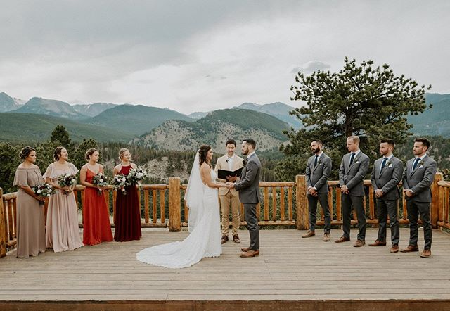 Not too shabby of a spot to get married. 😍😉• • • • • • • • • • • • • • • #estesparkwedding #ymcaoftherockies #estesparkweddingvenue #estesparkweddingphotographer #coloradoweddingphotographer #coloradowedding #rockymountainbride #coloradobride #coloradomountainwedding #coloradoelopementphotographer #coloradoelopement #rockymountainelopement