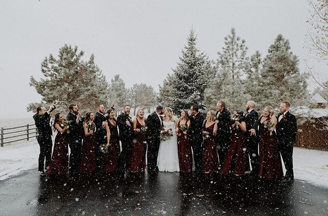 Letting your hair/dress get wet, braving the craziness of the weather in Colorado, and standing out in the freezing cold  tundra during a blizzard is ALWAYSSSS worth it, I promise. 😉❄️⛄️ • • • • • • • • • • • • • • • • • • • • • • • #sprucemountainranchwedding #sprucemountain #sprucemountainranch #coloradoweddingphotographer #coloradowedding #denverwedding #denverweddingphotographer #theknot #shesaidyes #winterwedding #snowywedding #pnwweddingphotographer #seattleweddingphotographer #washingtonweddingphotographer