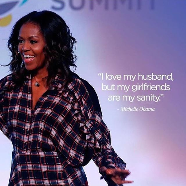 Call a sisterfriend today and tell her you love her! Happy Friday, loves! 💙 . . . . #Spelman007 #FLOTUS #MichelleObama #ObamaFoundation #ObamaFoundationSummit #Chicago #Sisters #Friends #Sisterhood #Spelman #SpelmanCollege #QuoteoftheDay #WordsofWisdom