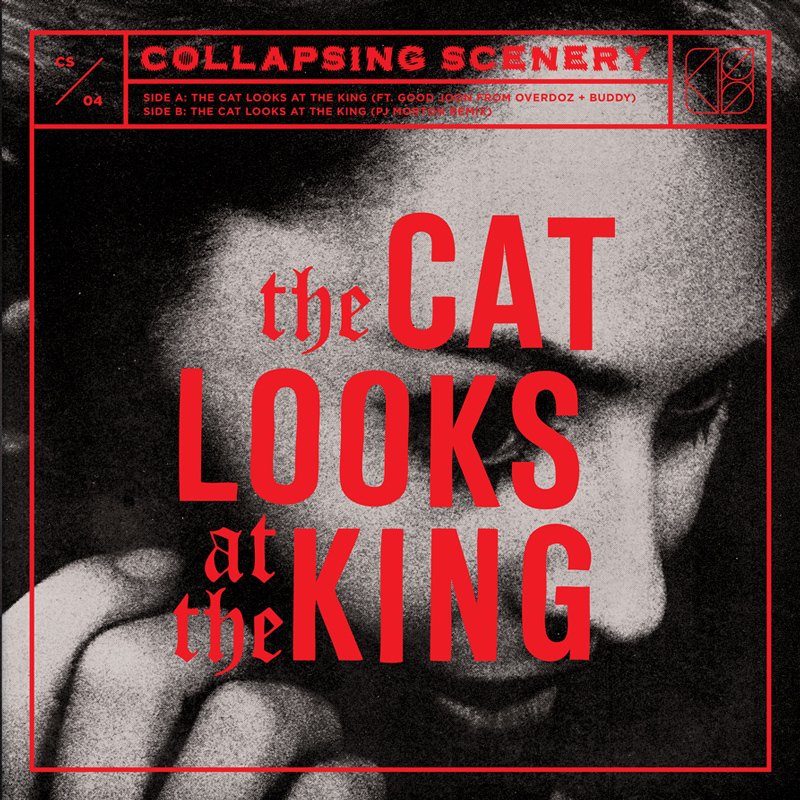 """Collapsing Scenery  - The Cat Looks at the King:  7"""" single"""
